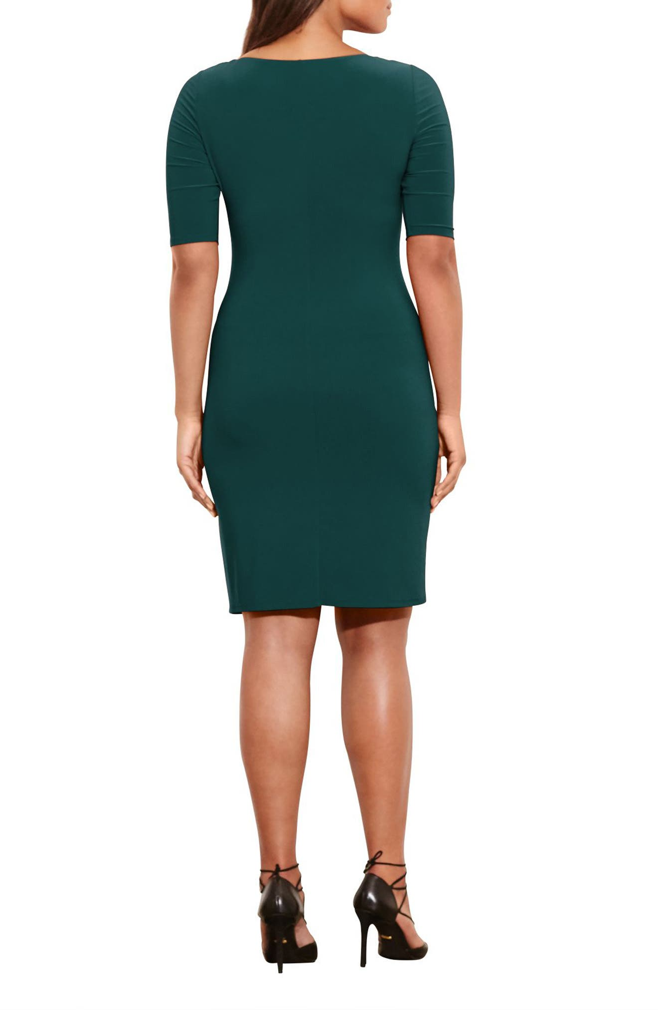Carleton Cowl Neck Jersey Dress,                             Alternate thumbnail 2, color,                             Woodland Green