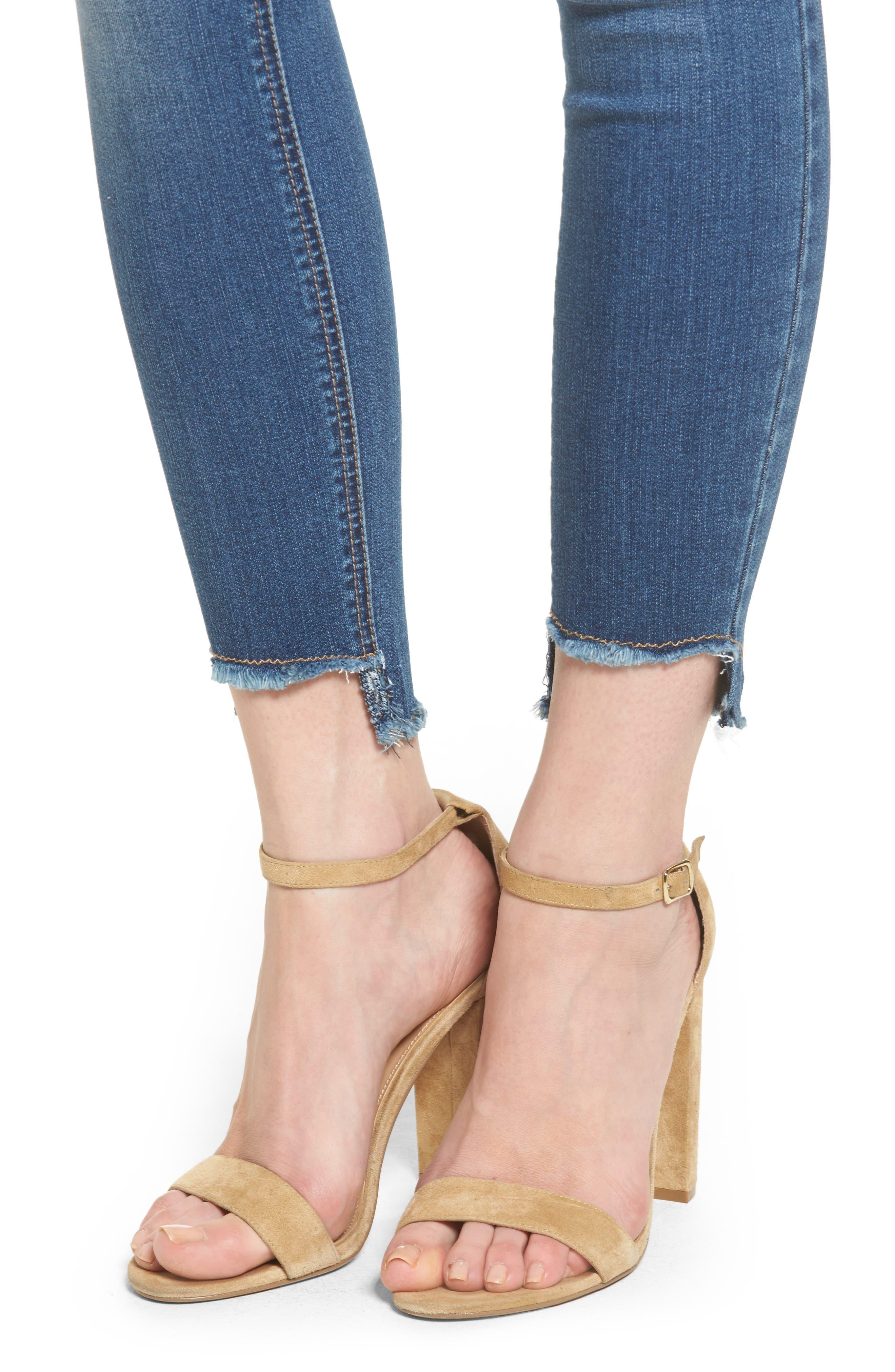 Alternate Image 4  - 1822 Denim Step Hem Skinny Jeans (Greg)
