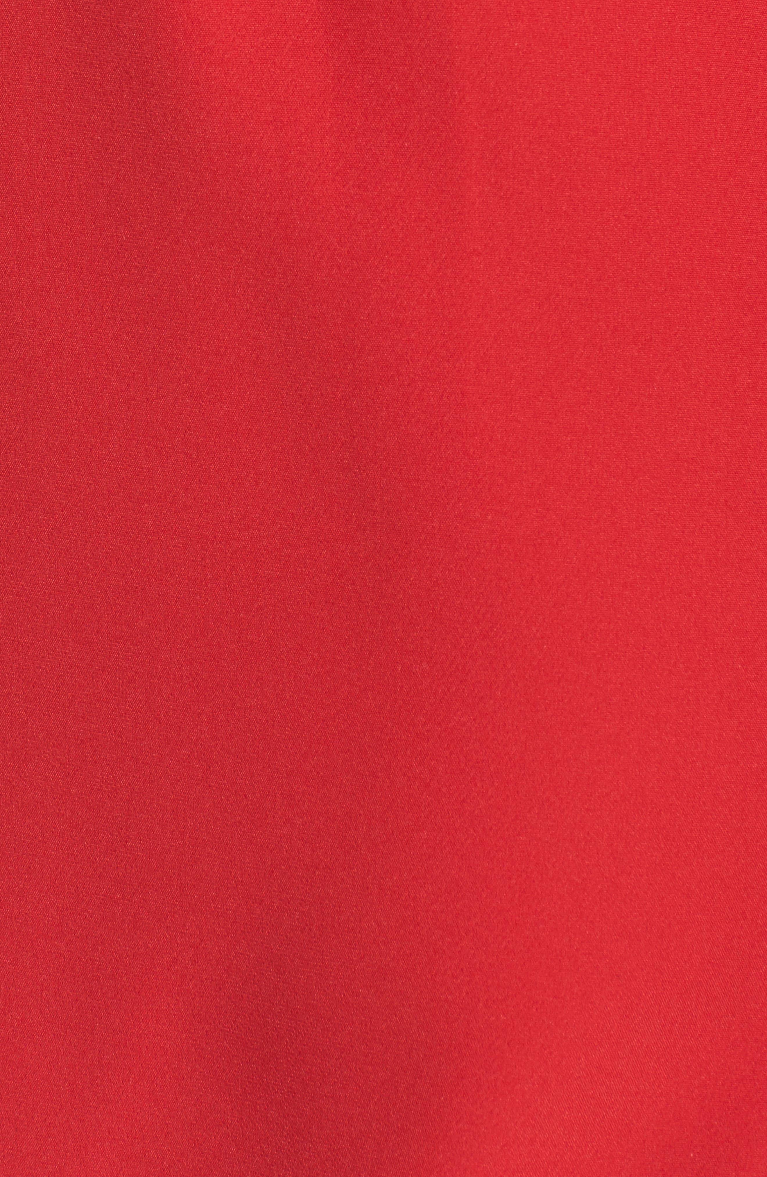 Aurora Rose Crepe Popover Dress,                             Alternate thumbnail 4, color,                             Red Barberry
