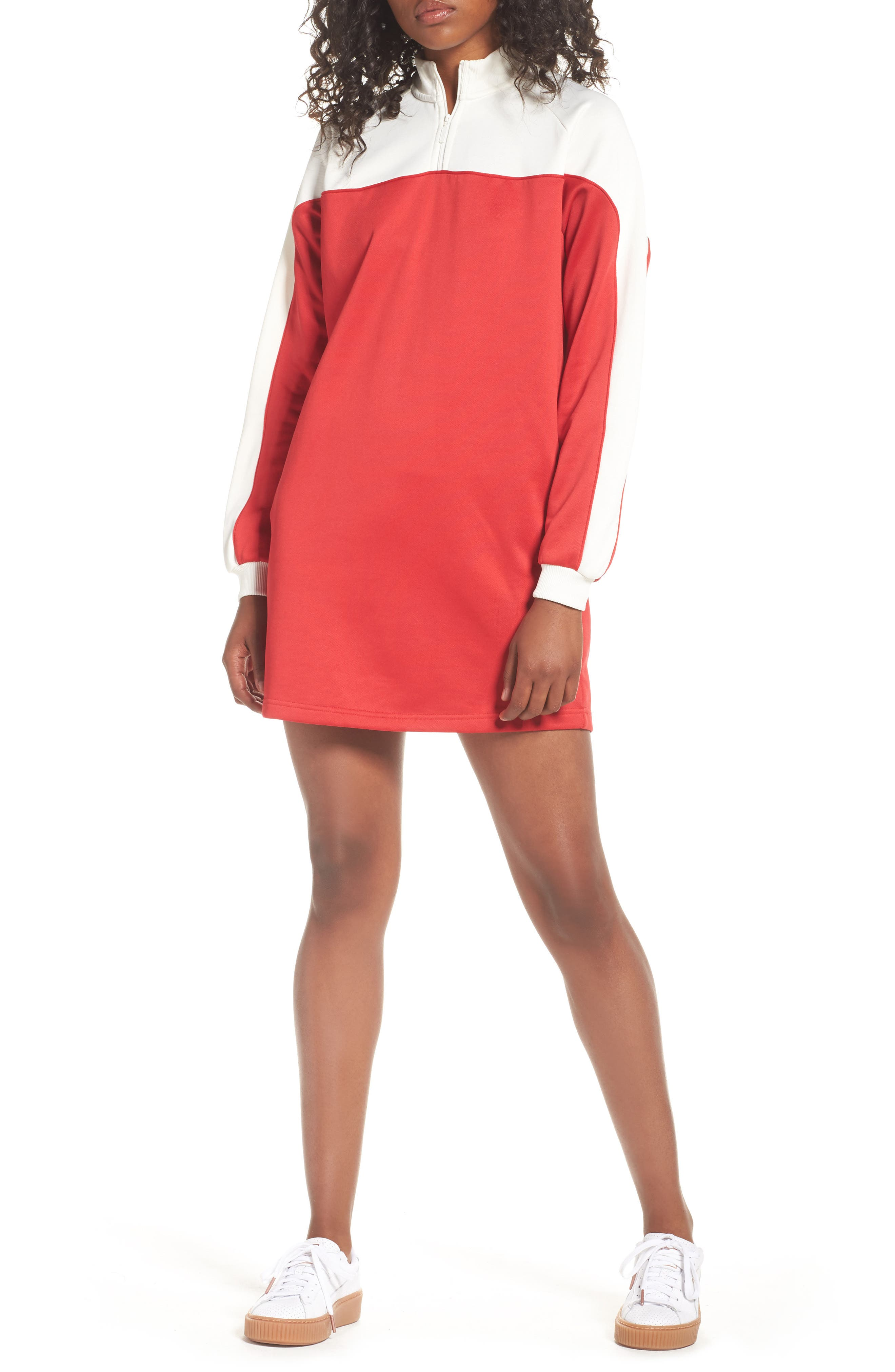 PUMA Quarter-ZIp Colorblock Dress
