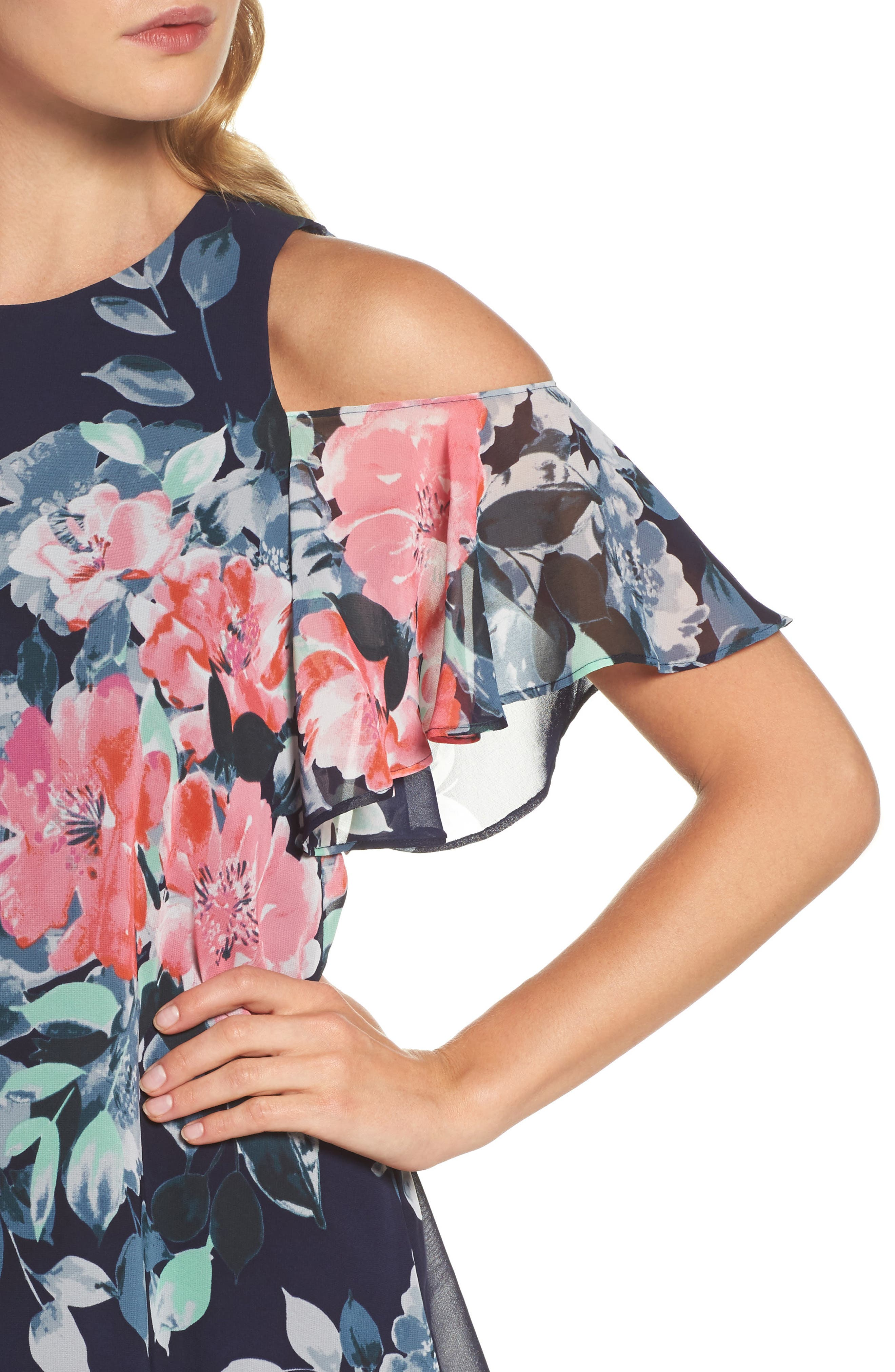 Alternate Image 4  - Eliza J Tiered Chiffon Shift Dress