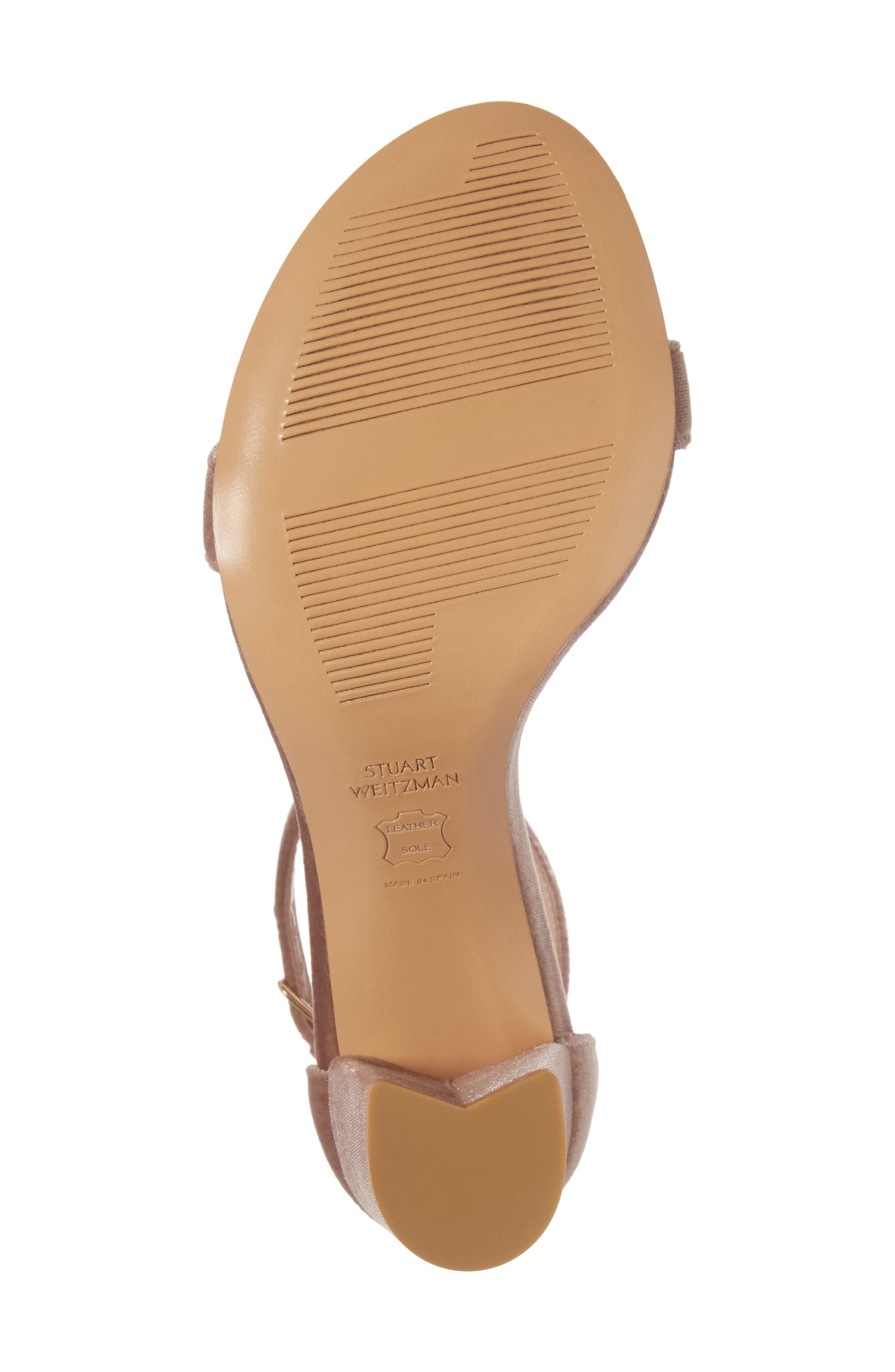 NearlyNude Ankle Strap Sandal,                             Alternate thumbnail 6, color,                             Candy Velvet