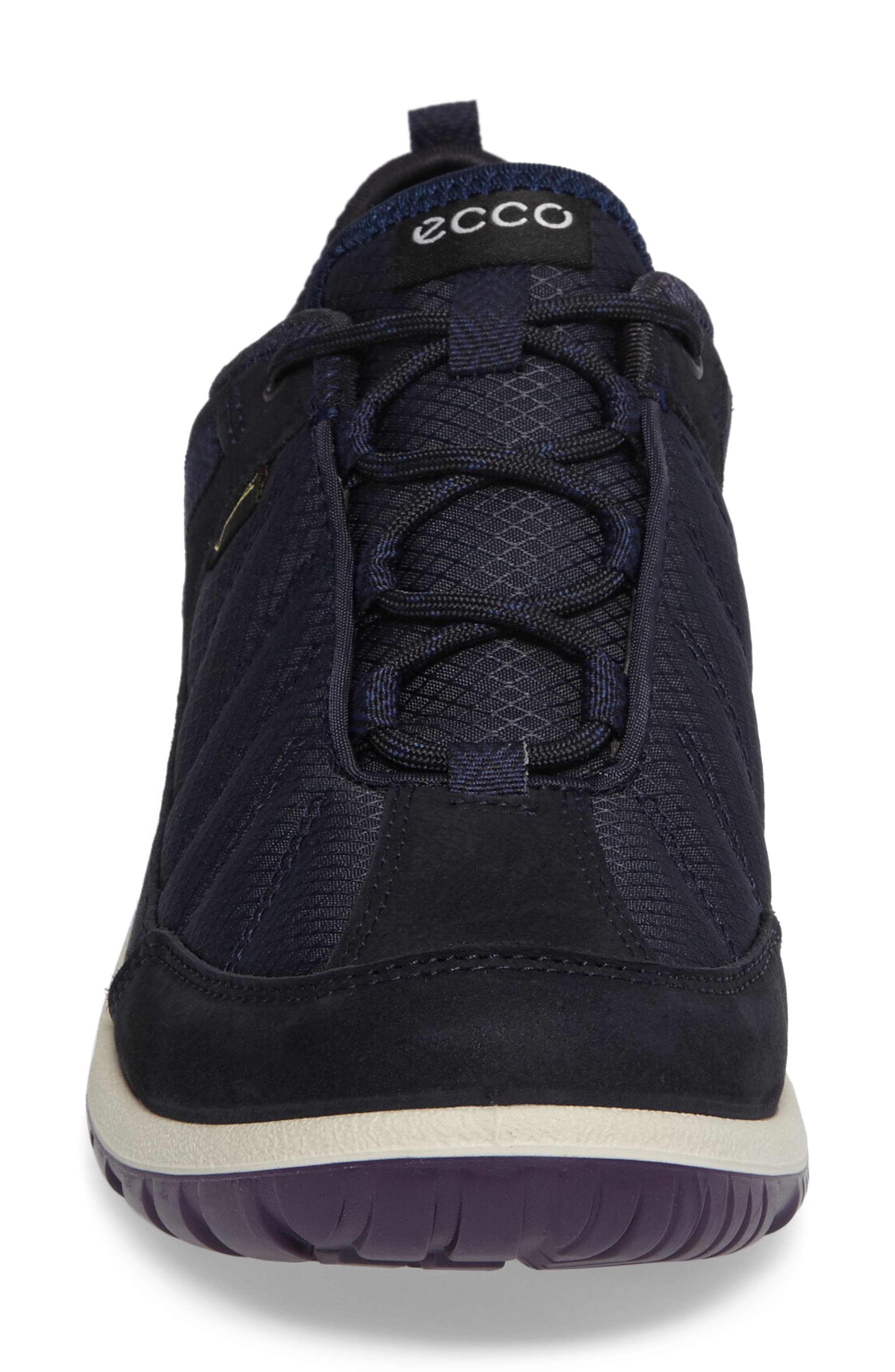 Aspina GTX Waterproof Sneaker,                             Alternate thumbnail 4, color,                             Navy Leather