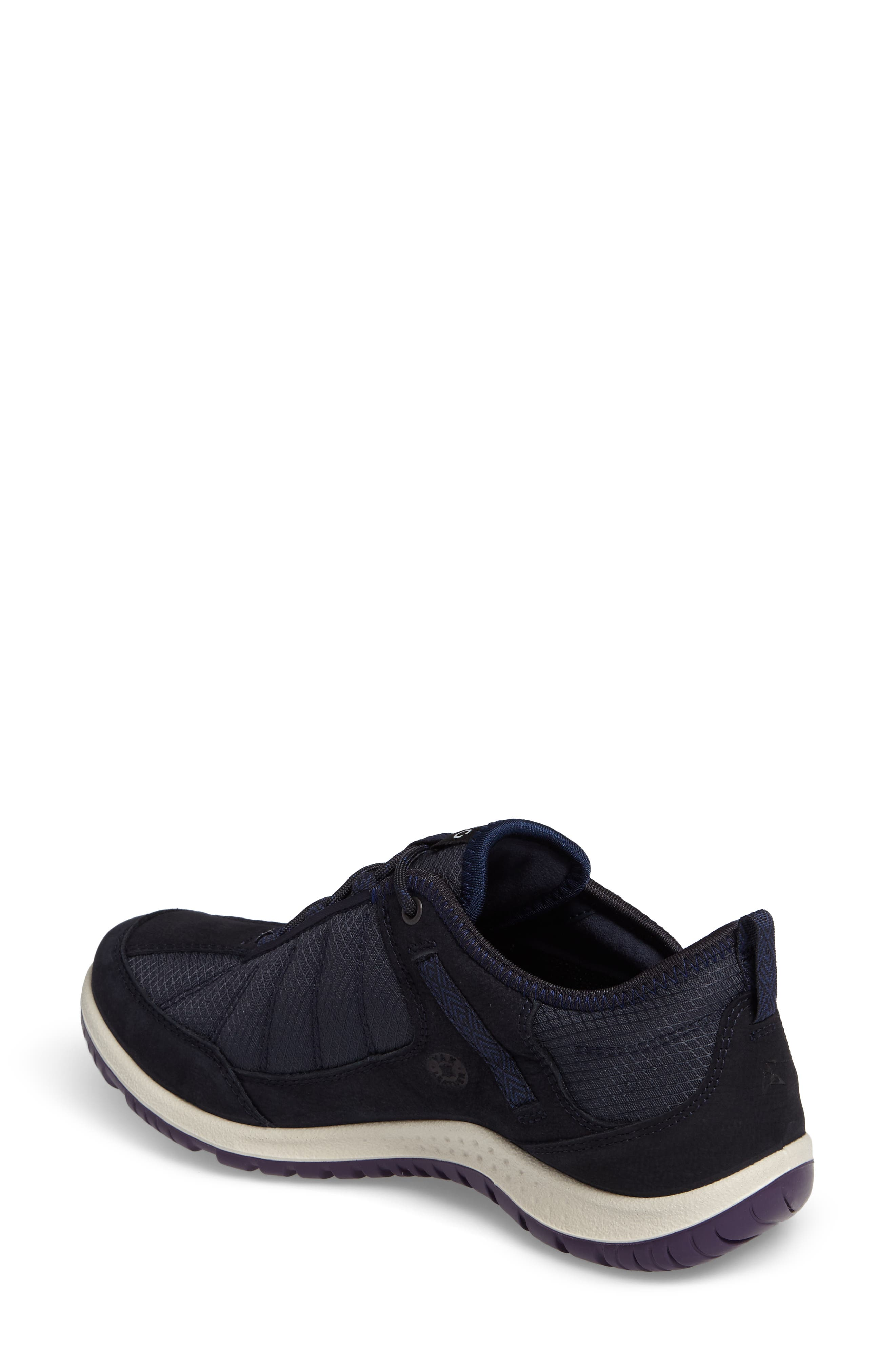Aspina GTX Waterproof Sneaker,                             Alternate thumbnail 2, color,                             Navy Leather