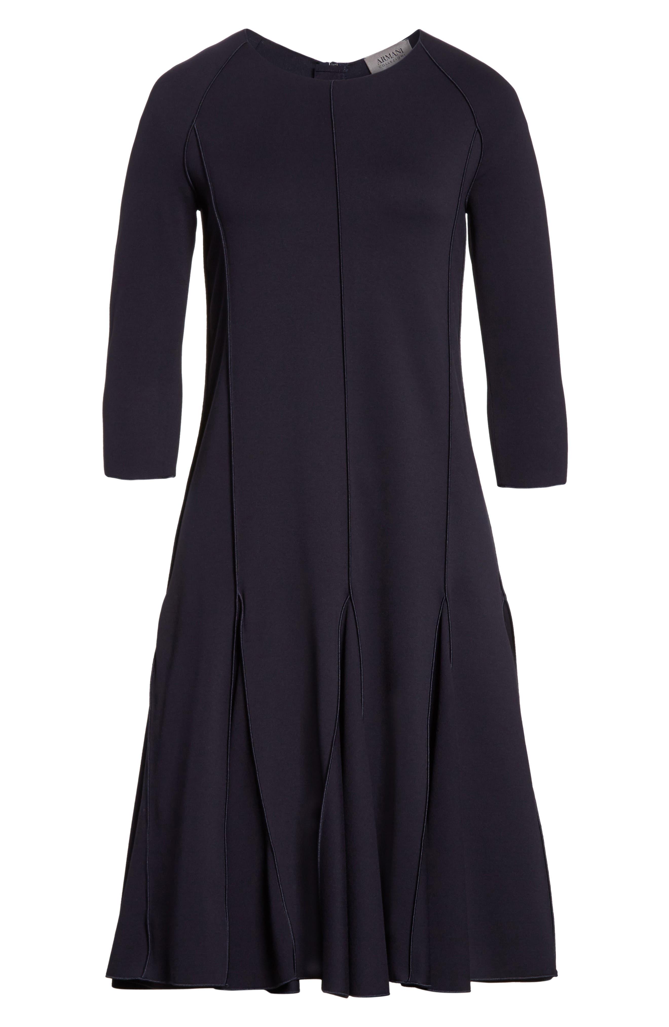 Alternate Image 4  - Armani Collezioni Seamed Jersey Fit & Flare Dress