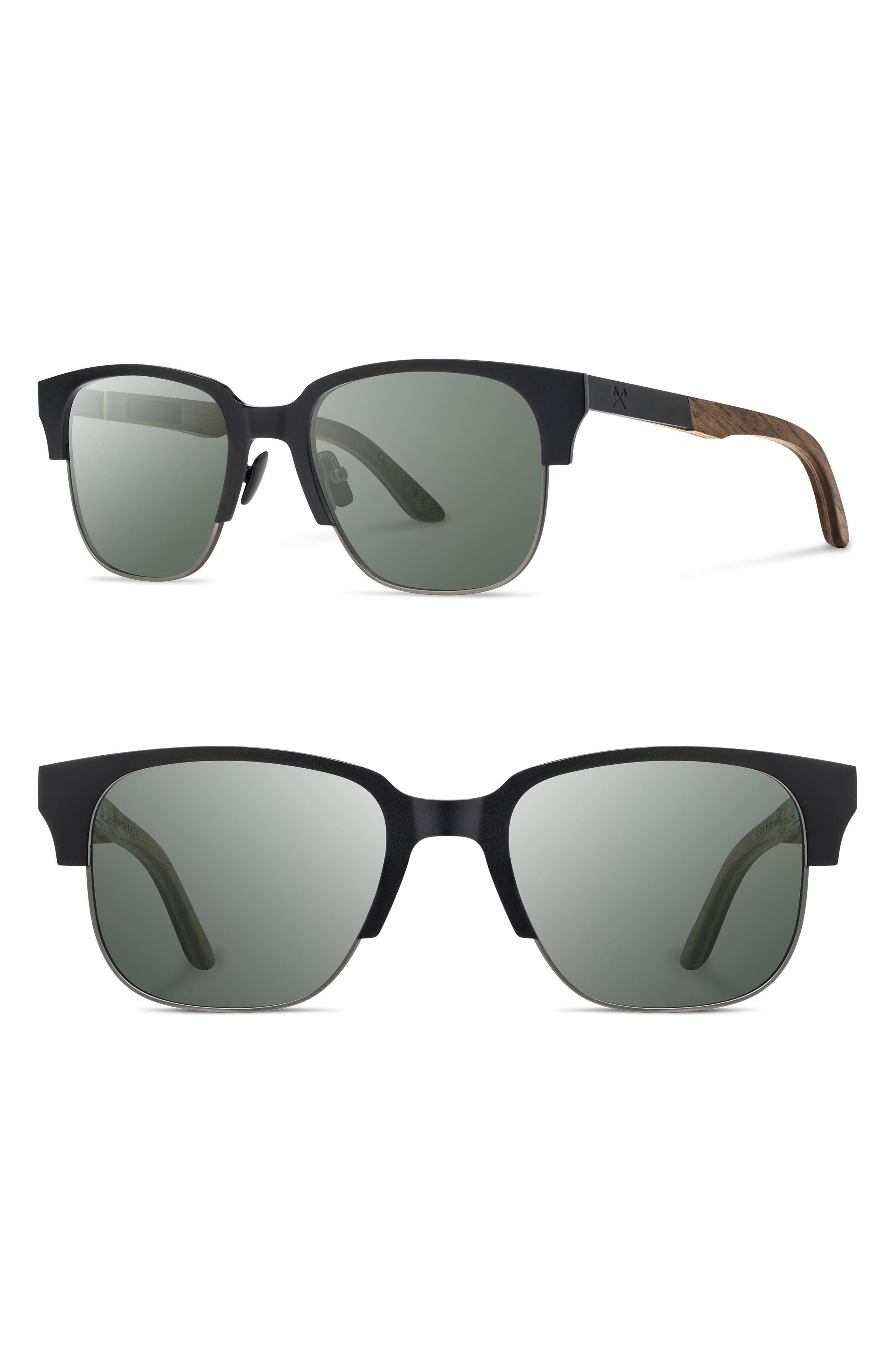 SHWOOD Newport Titan 52mm Sunglasses