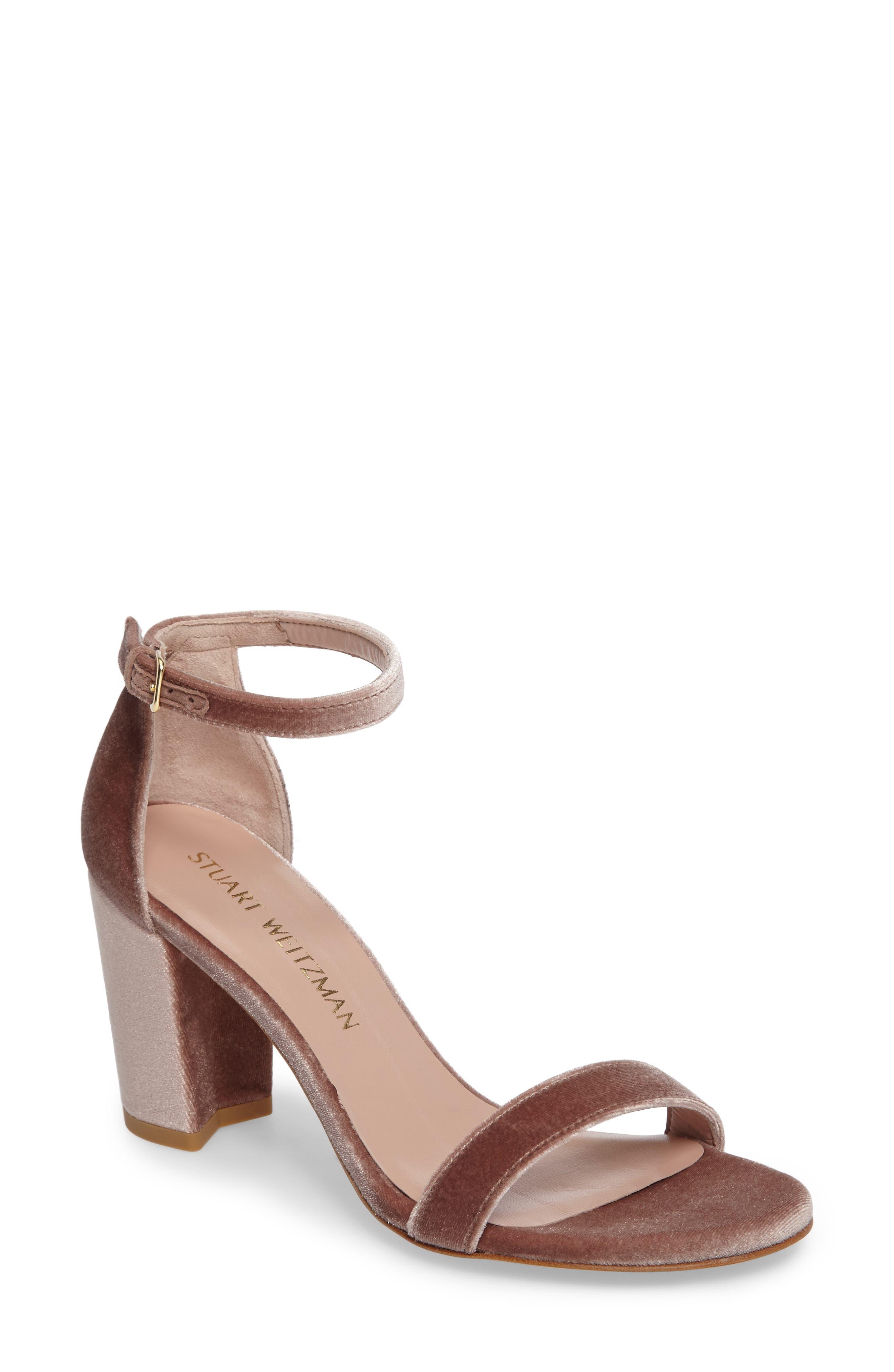 NearlyNude Ankle Strap Sandal,                             Main thumbnail 1, color,                             Candy Velvet