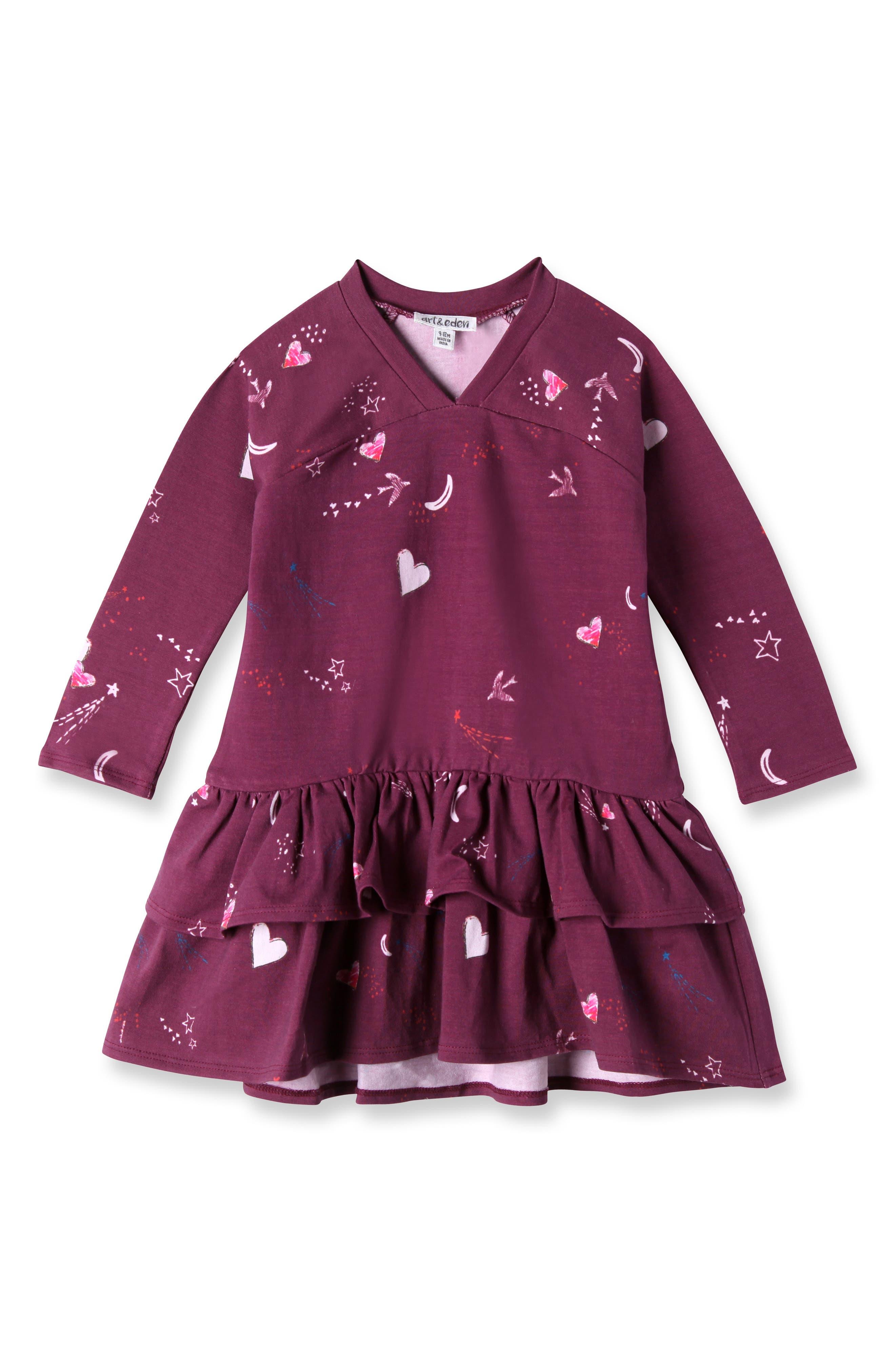 Julia Dress,                         Main,                         color, Amaranth