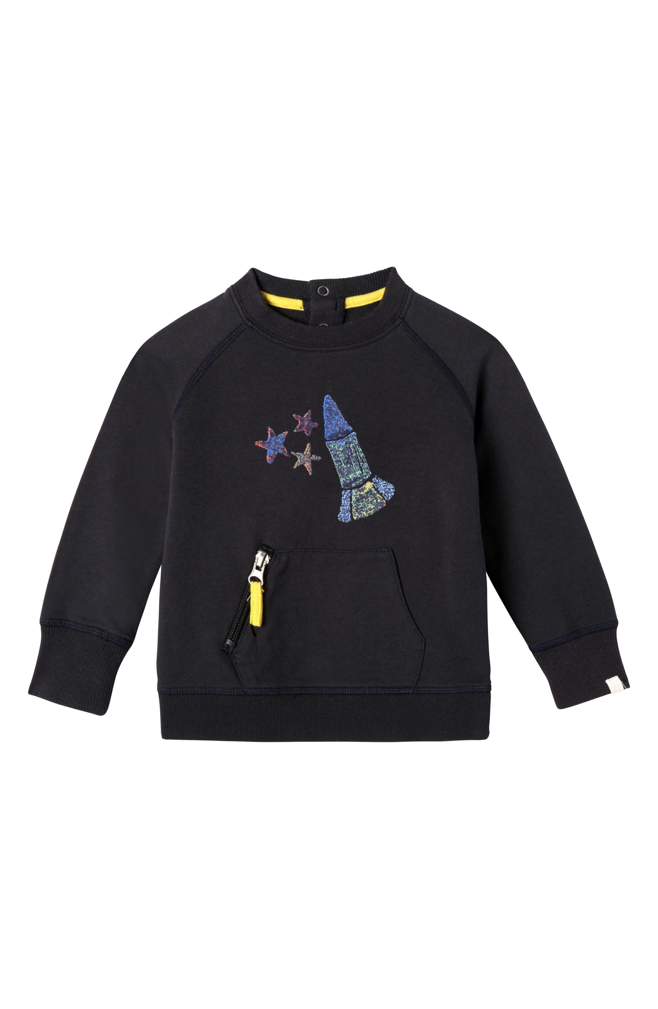 Main Image - Art & Eden Jaxon Organic Cotton Sweatshirt (Baby Boys)