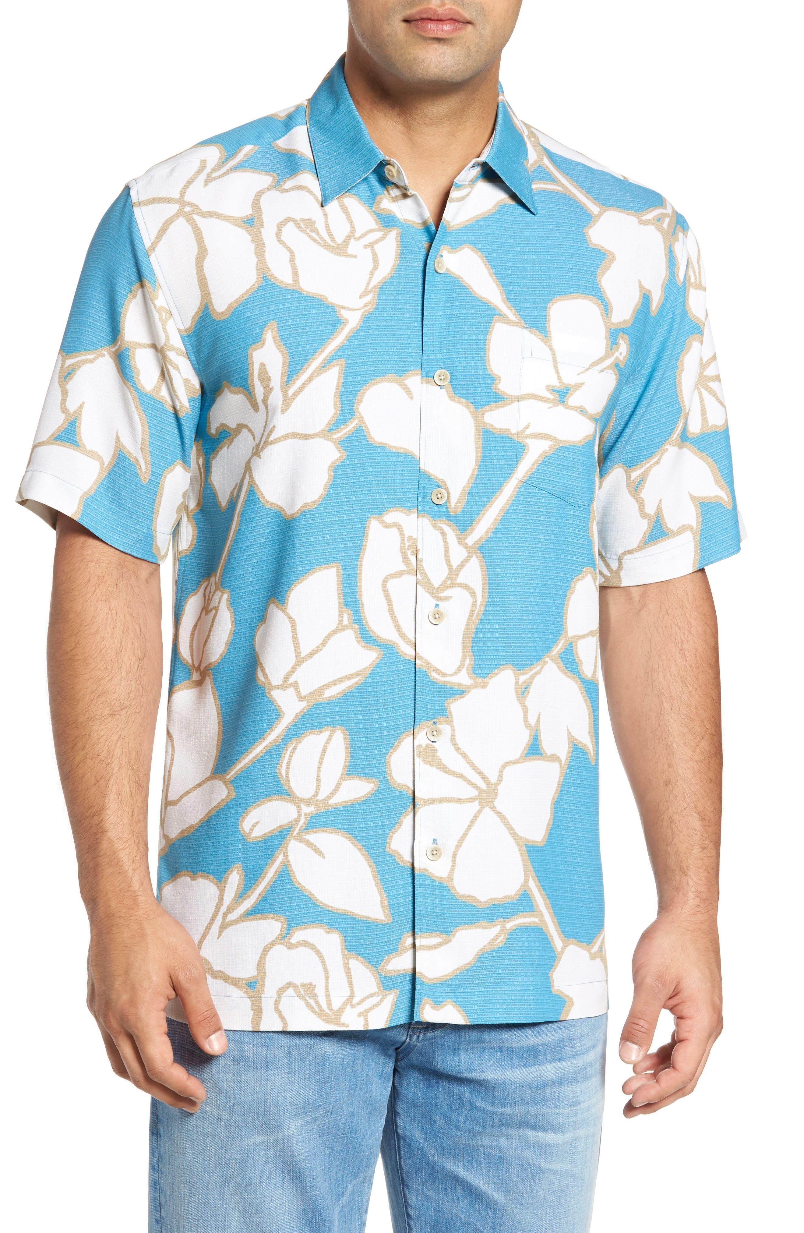 Mauna Lani Classic Fit Camp Shirt,                         Main,                         color, Blue
