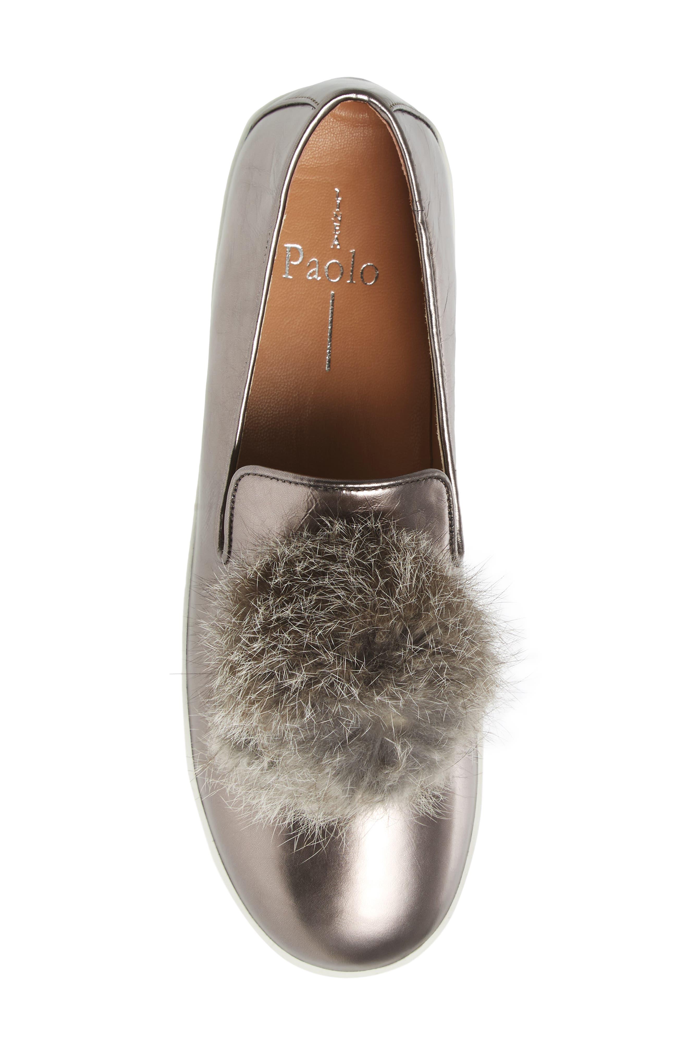 Alternate Image 5  - Linea Paolo Sammy Platform Sneaker with Genuine Rabbit Fur Pompom (Women)