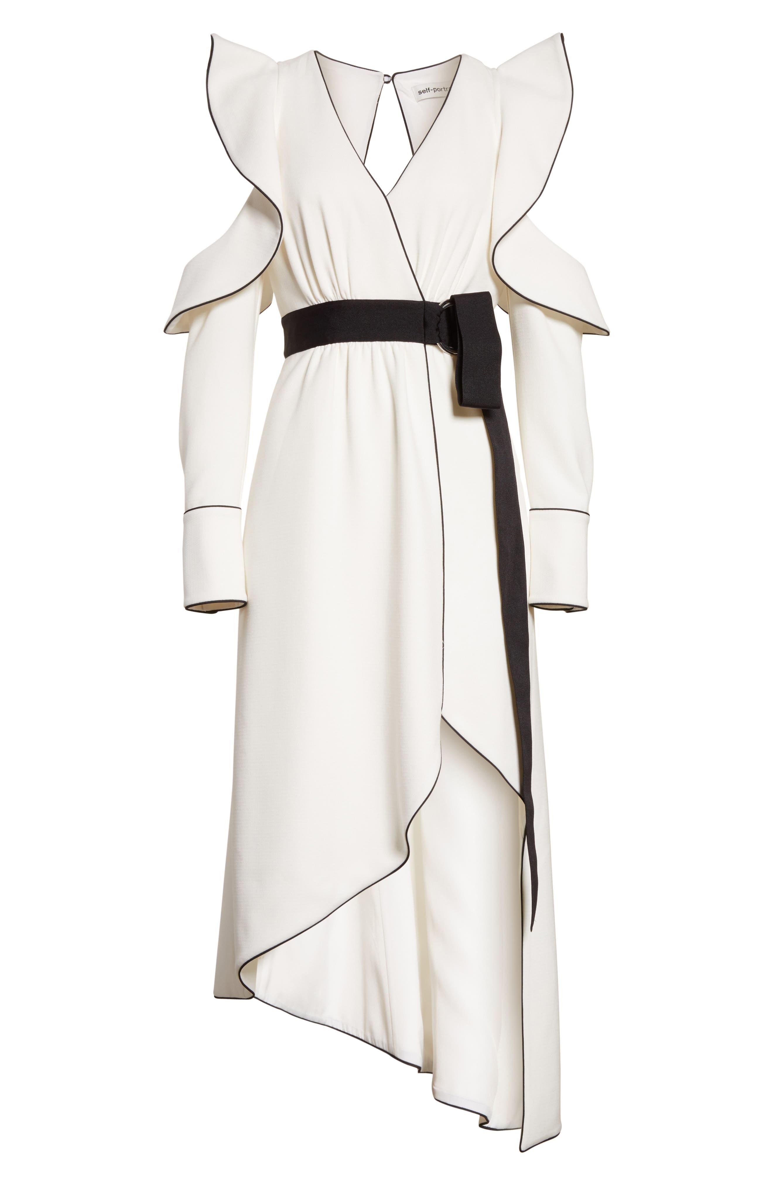 Alternate Image 6  - Self-Portrait Cold Shoulder Asymmetrical Dress