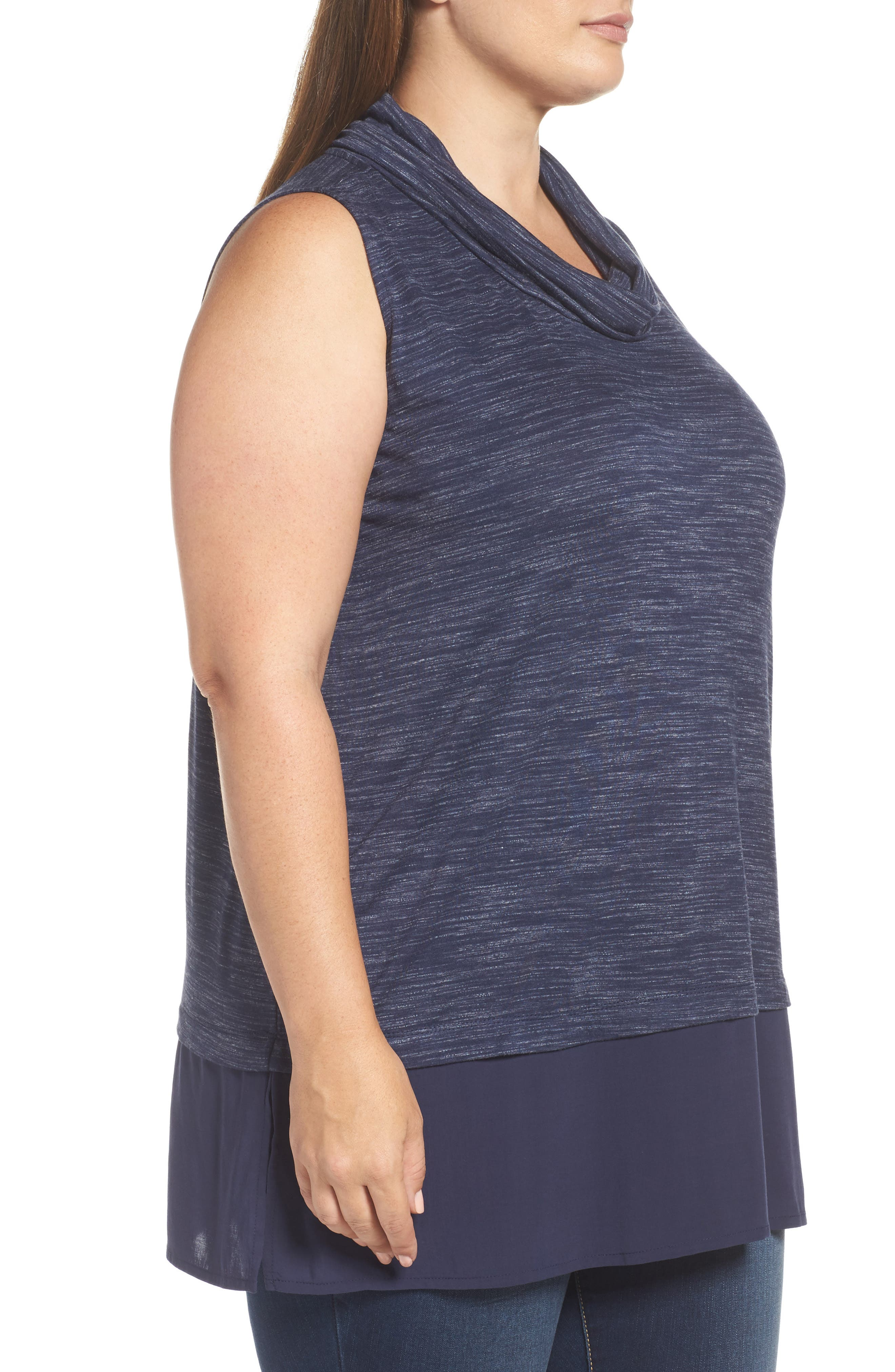 Alternate Image 3  - Two by Vince Camuto Space Dyed Cowl Neck Tank