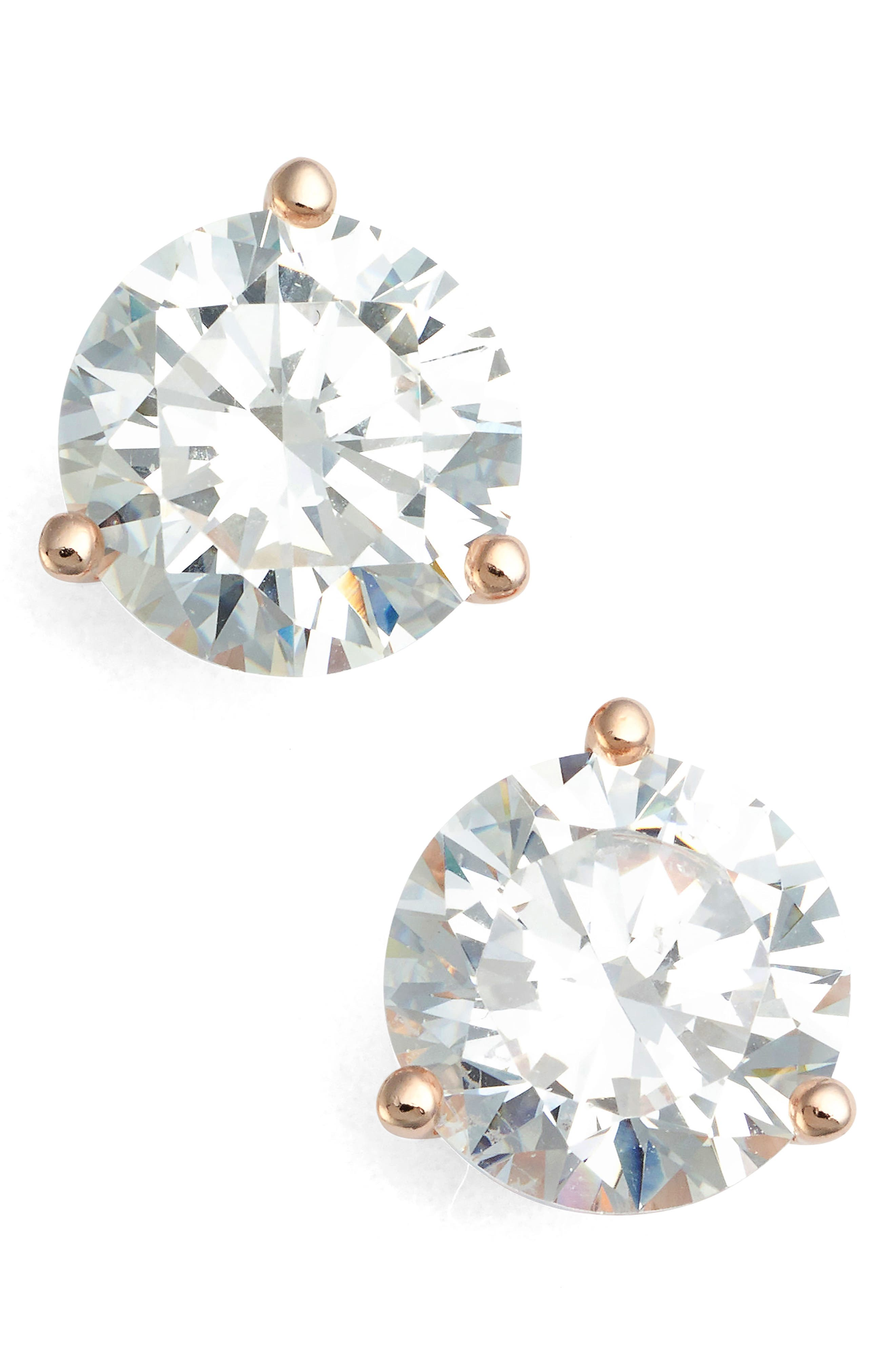 Nordstrom Precious Metal Plated 4ct tw Cubic Zirconia Earrings
