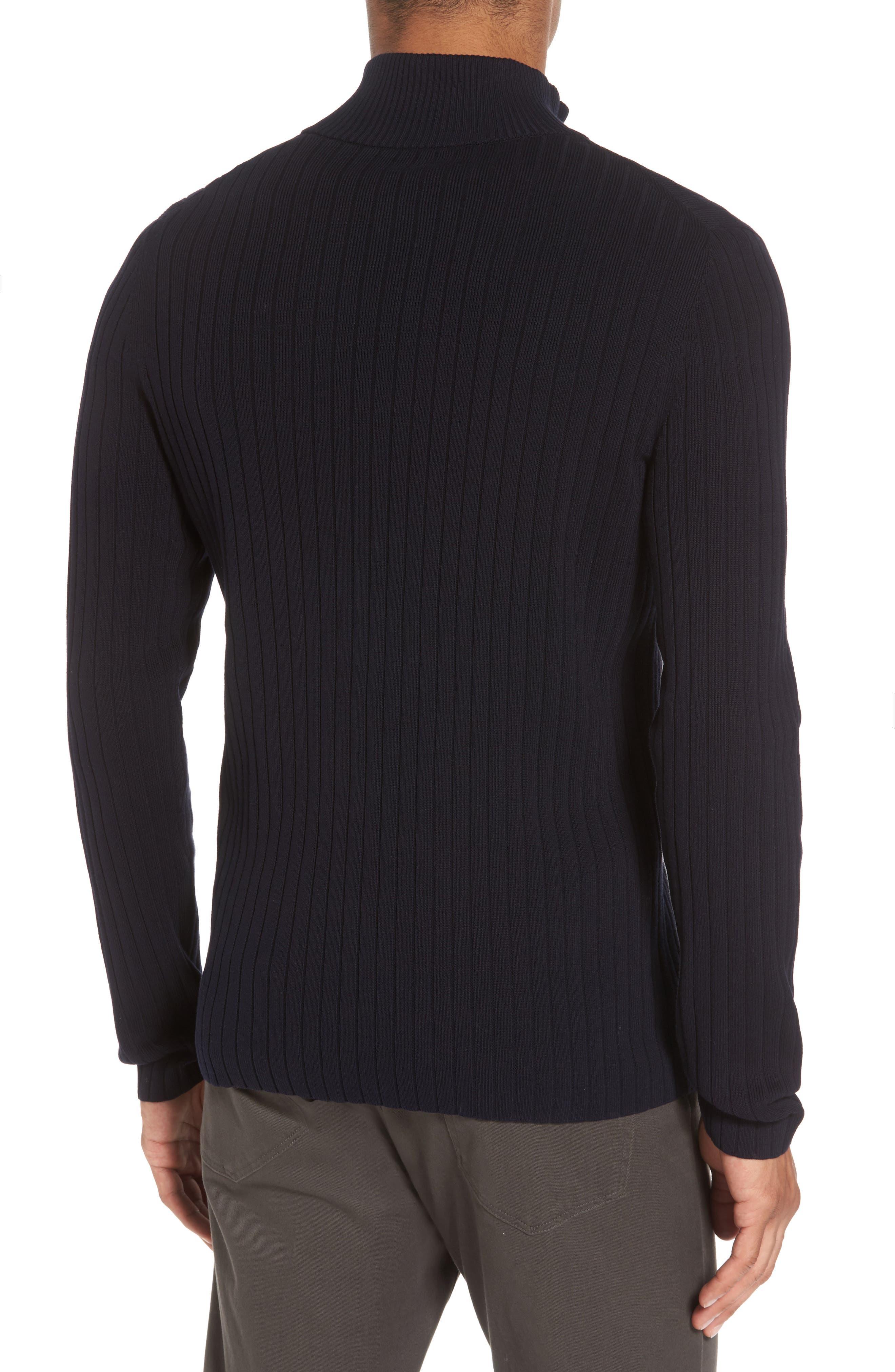 Half Zip Mock Neck Sweater,                             Alternate thumbnail 2, color,                             Coastal