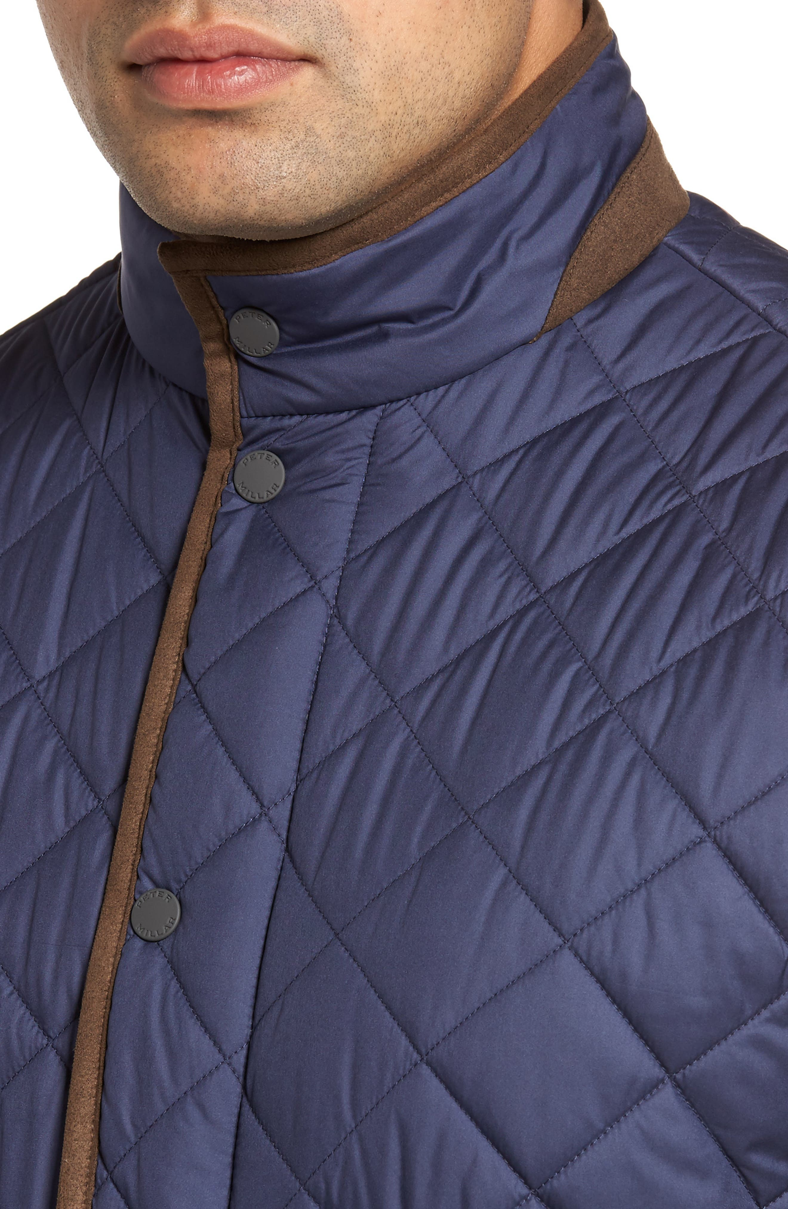 Essex Quilted Vest,                             Alternate thumbnail 4, color,                             Perfect Navy