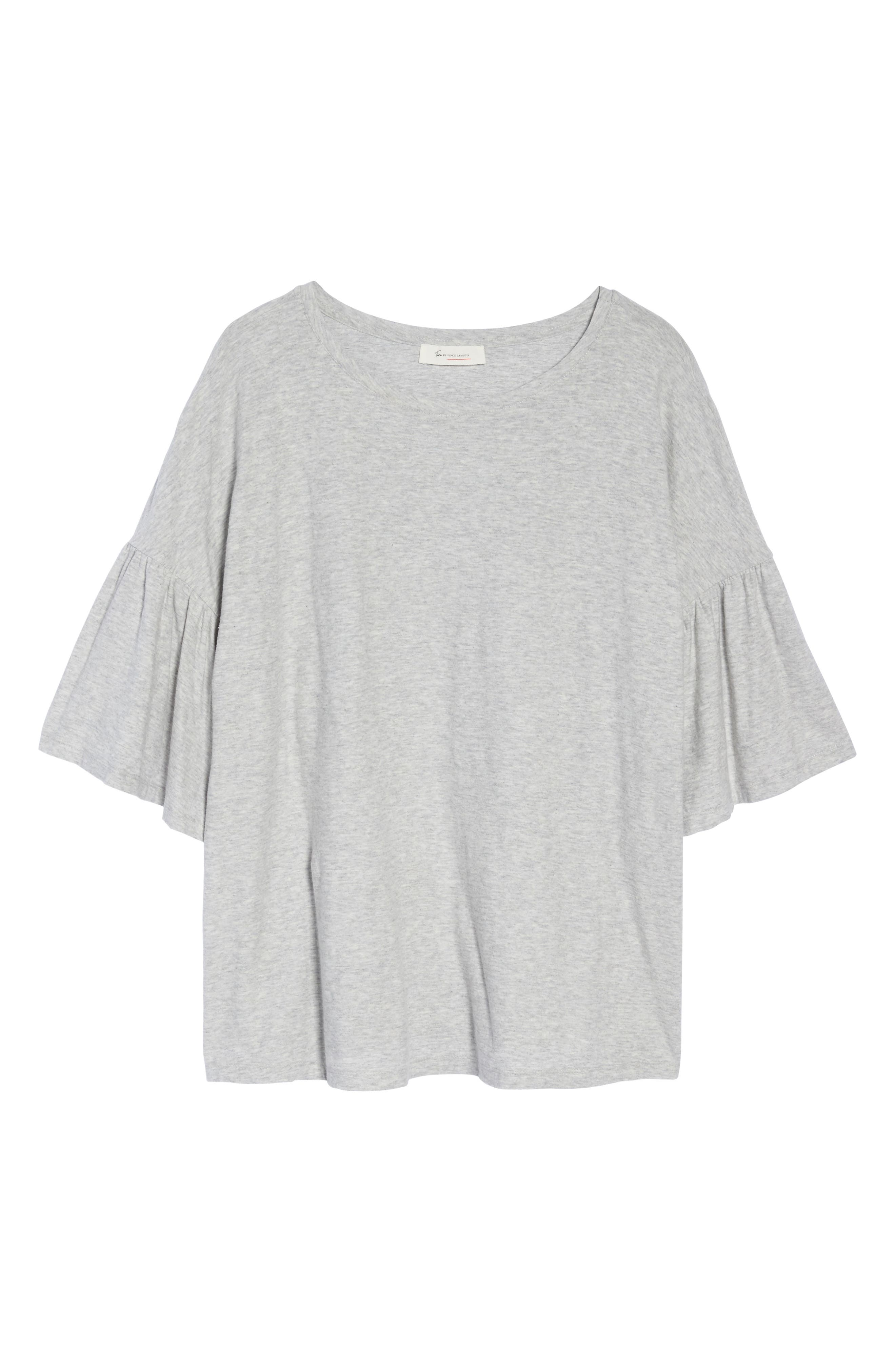 Alternate Image 6  - Vince Camuto Relaxed Bell Sleeve Cotton Tee (Plus Size)