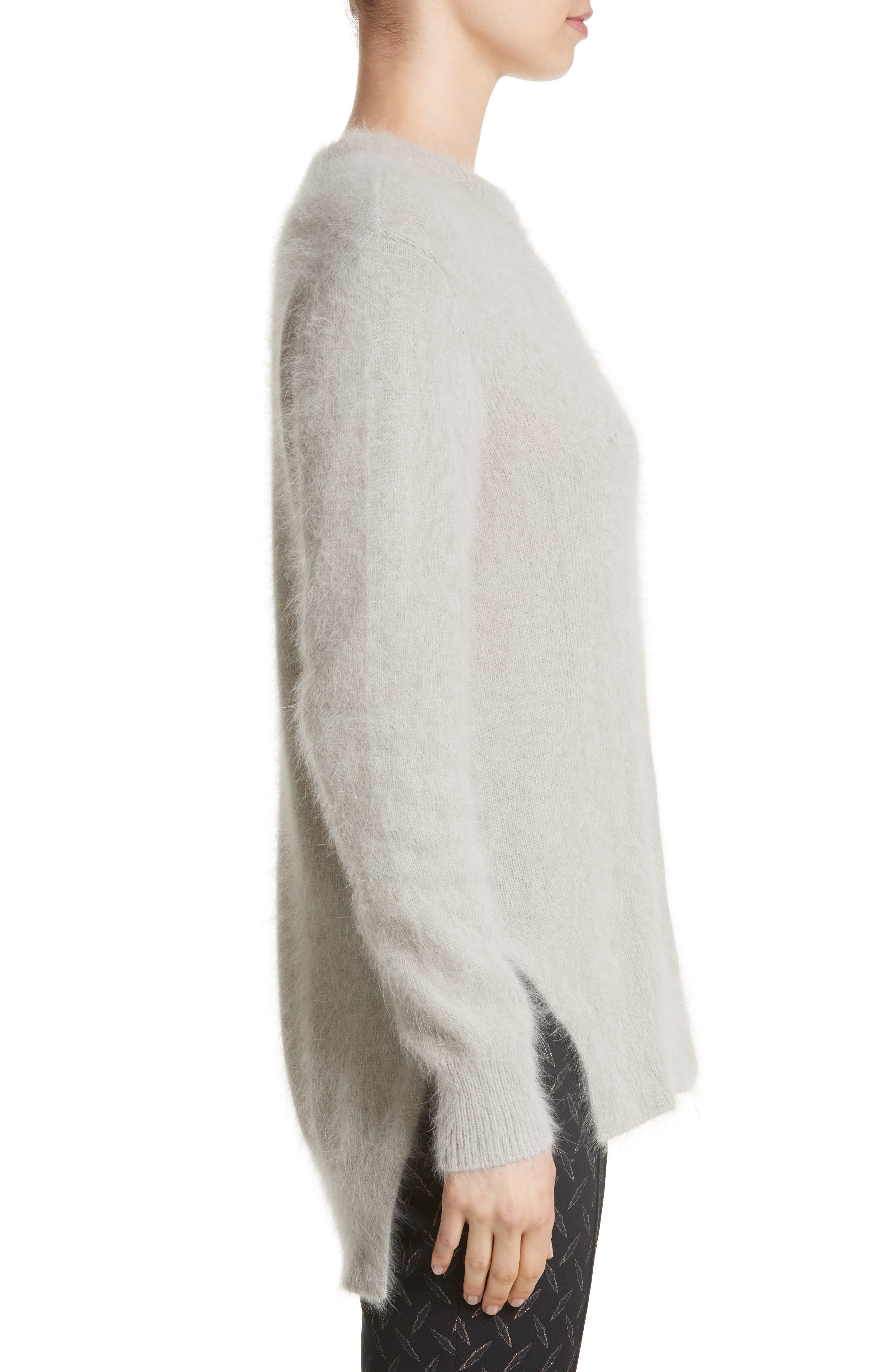 Angora Blend Sweater,                             Alternate thumbnail 5, color,                             Grey