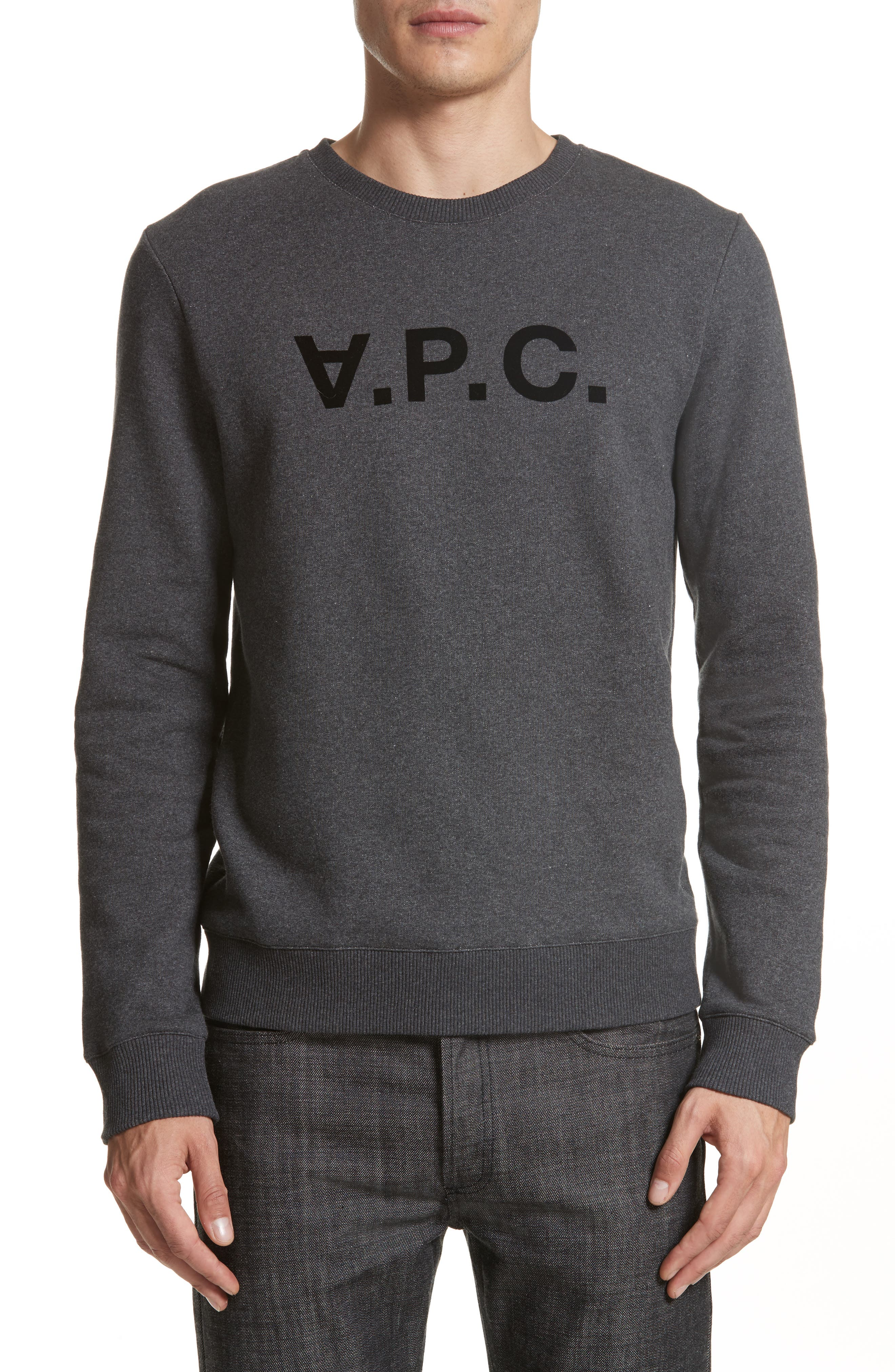 Alternate Image 1 Selected - A.P.C. Logo Sweatshirt