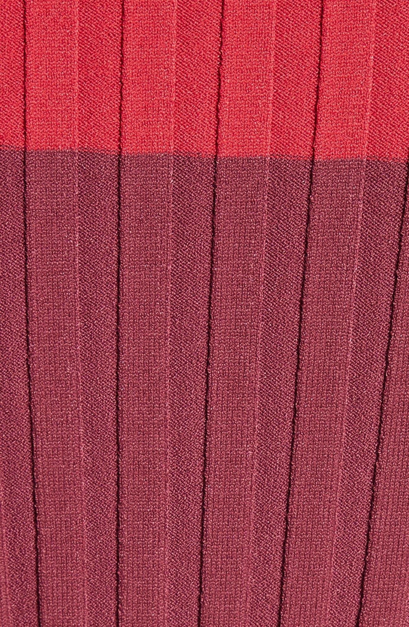 Leila Colorblock Knit Sweater,                             Alternate thumbnail 3, color,                             Port Multi