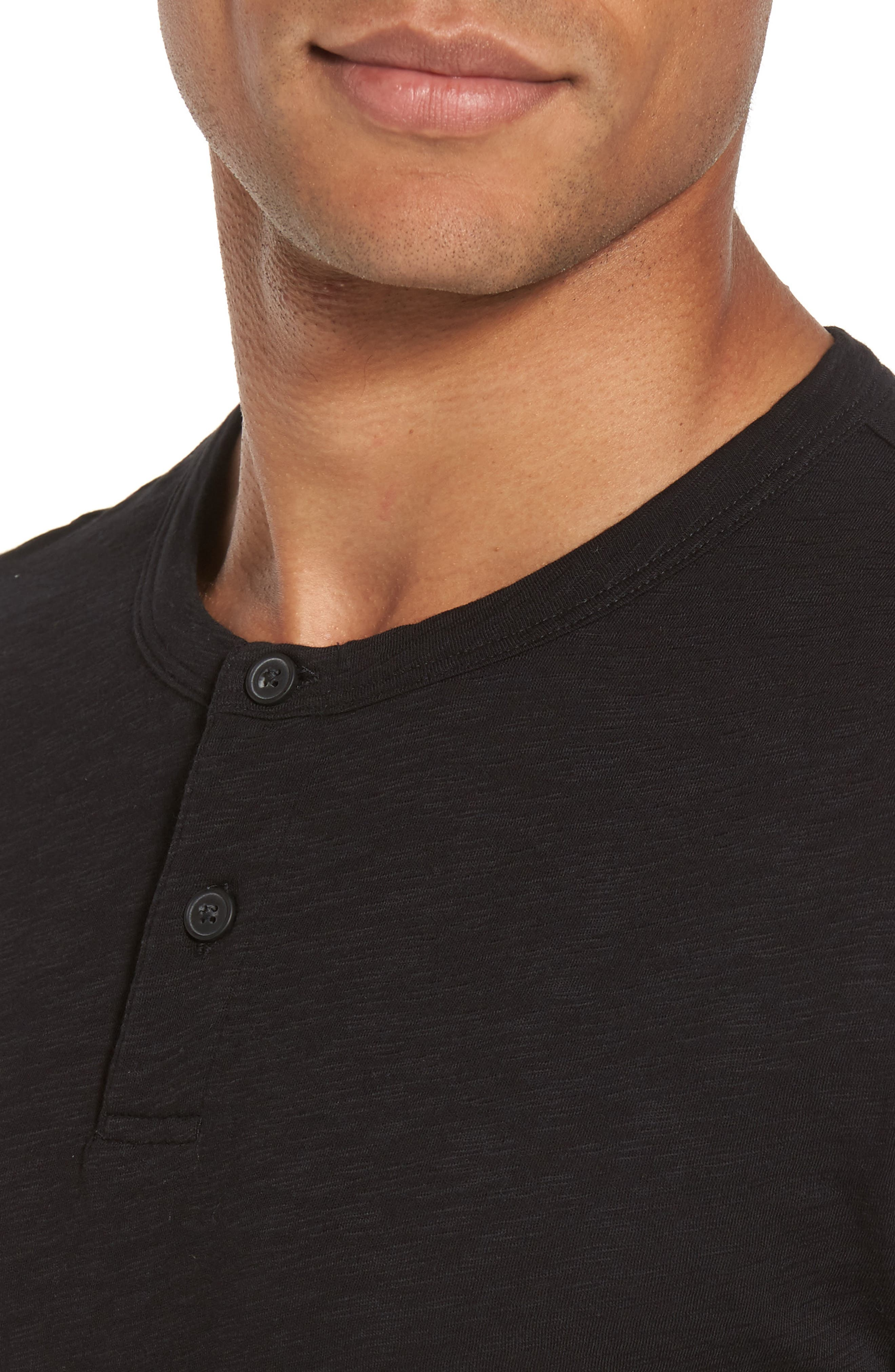 Gaskell Henley T-Shirt,                             Alternate thumbnail 4, color,                             Black