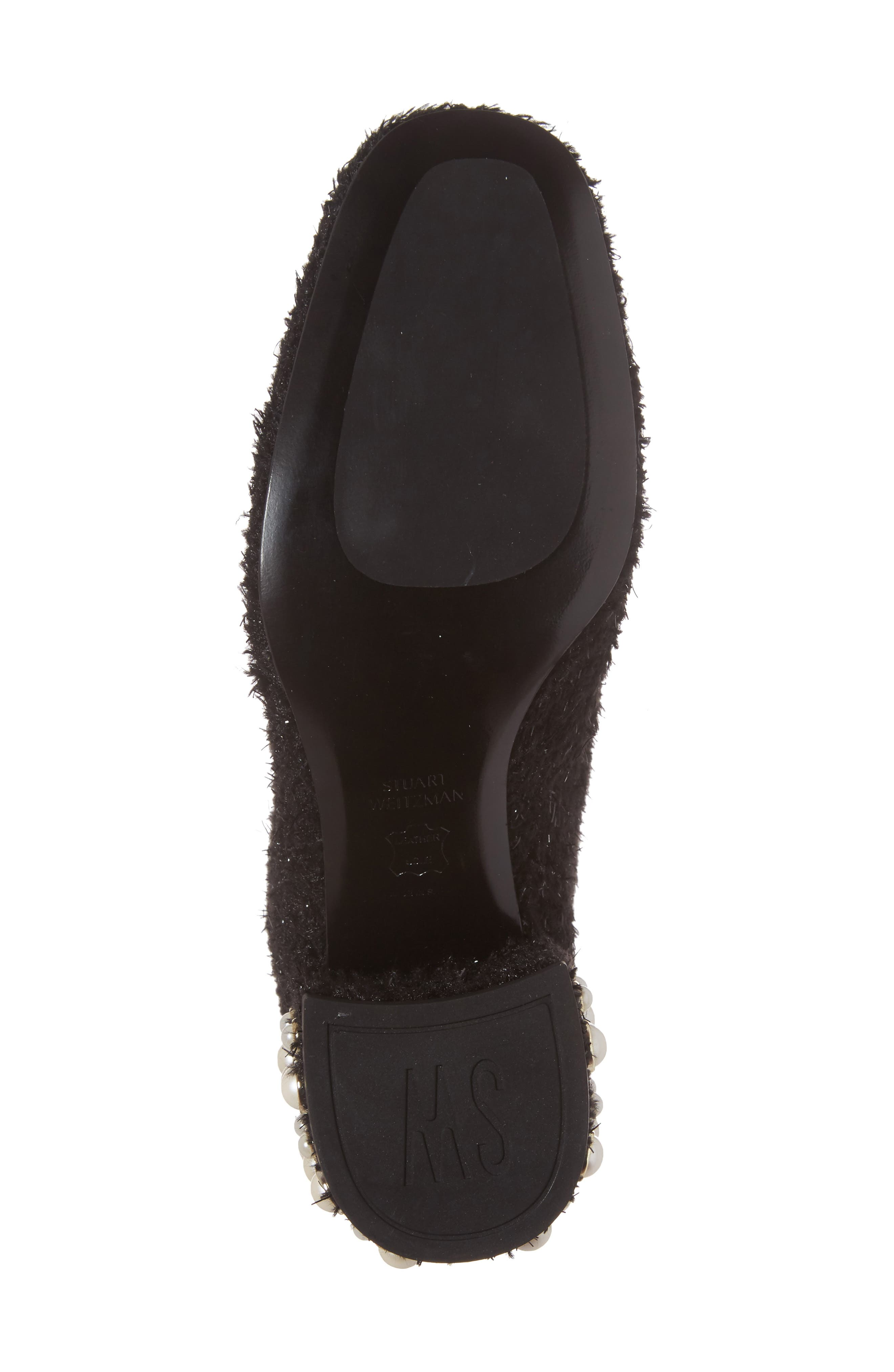 Pearlbacari Bootie,                             Alternate thumbnail 6, color,                             Black Boucle