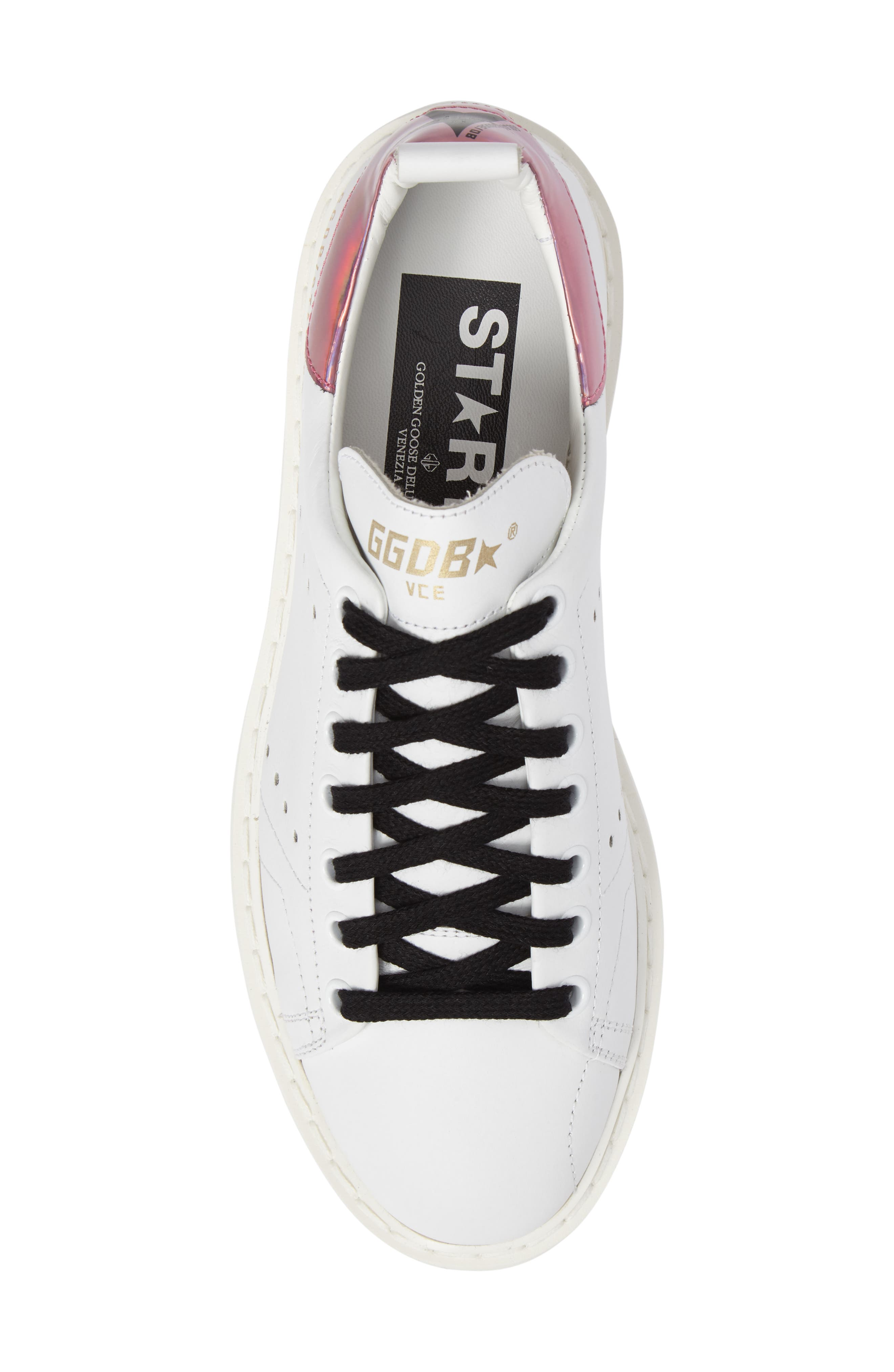 Starter Low Top Sneaker,                             Alternate thumbnail 5, color,                             White/ Pink Jelly