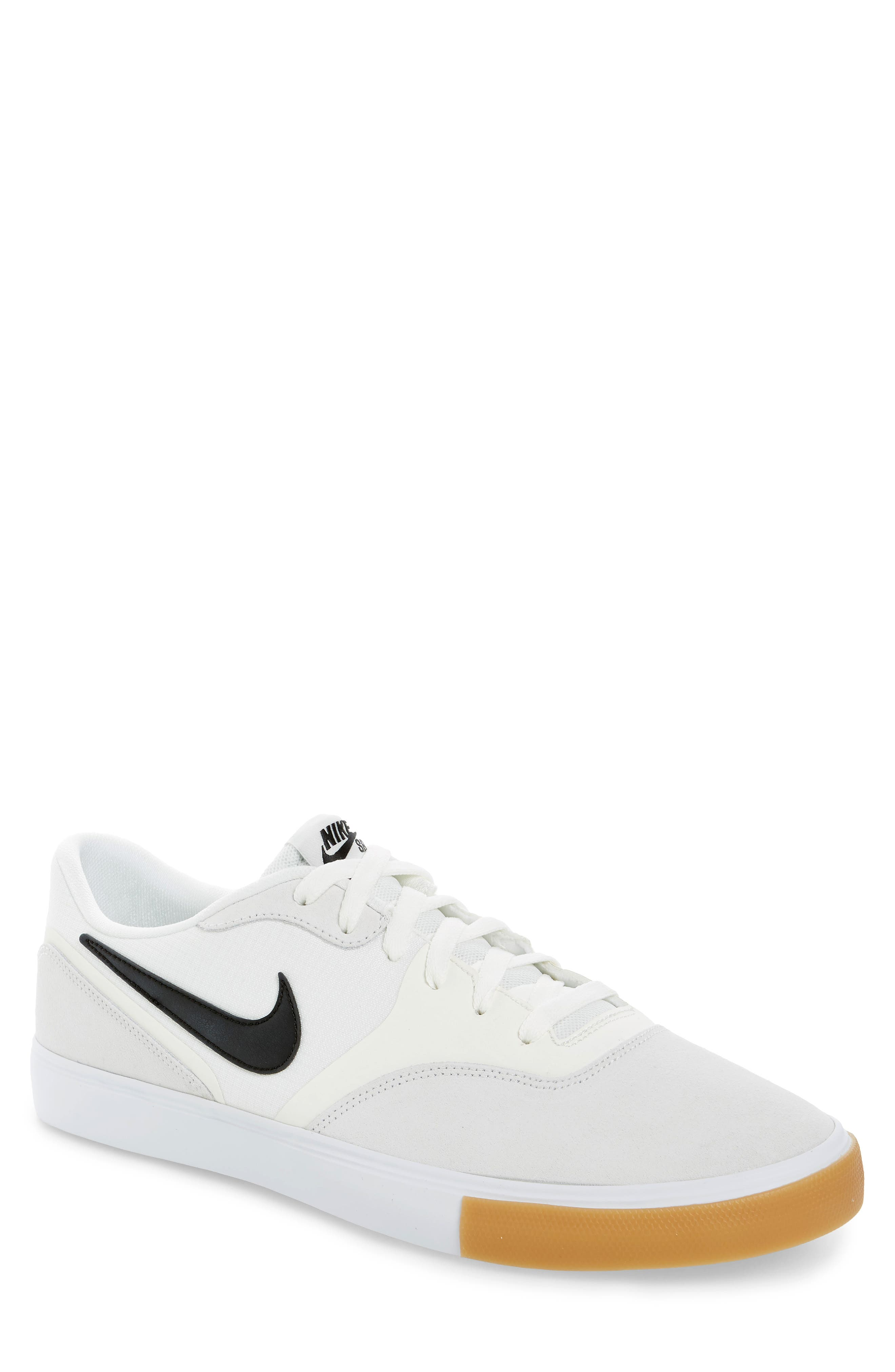 SB Paul Rodriguez 9 VR Skateboarding Sneaker,                         Main,                         color, White/ Black/ Black