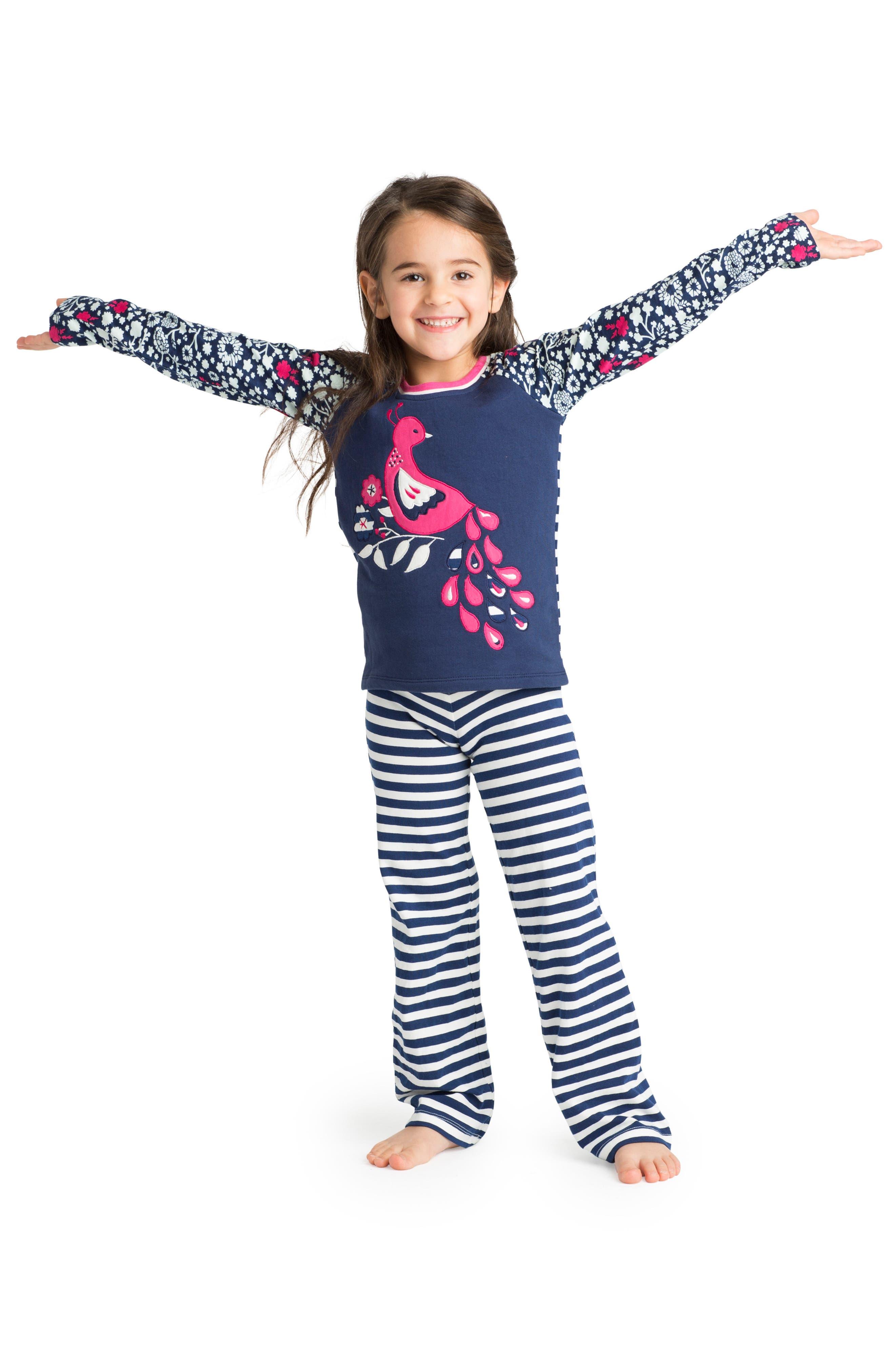 Alternate Image 3  - Masasla Baby Dancing Peacock Appliqué Top (Toddler Girls, Little Girls & Big Girls)