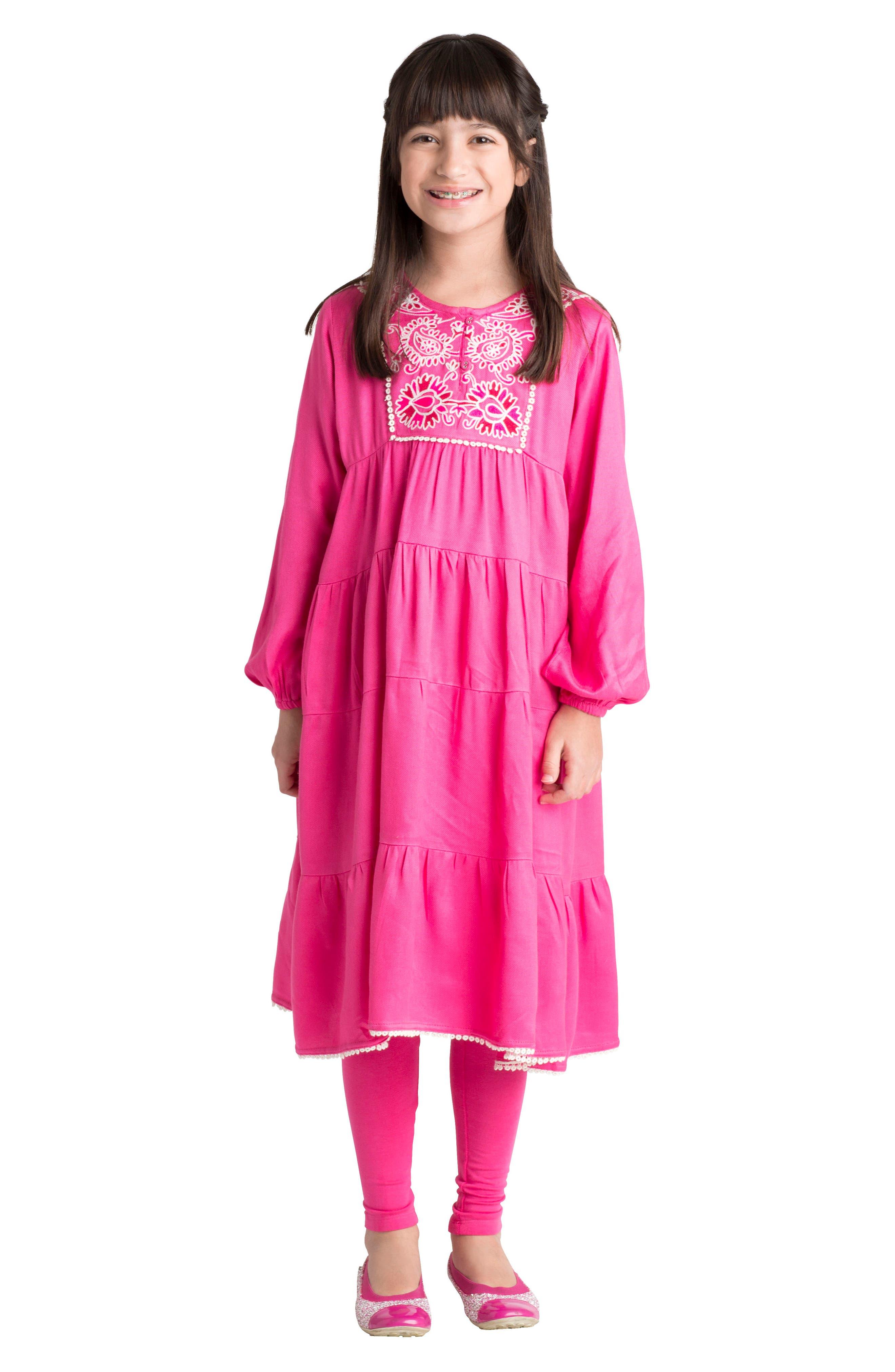 Rose Dress,                             Alternate thumbnail 2, color,                             Pink