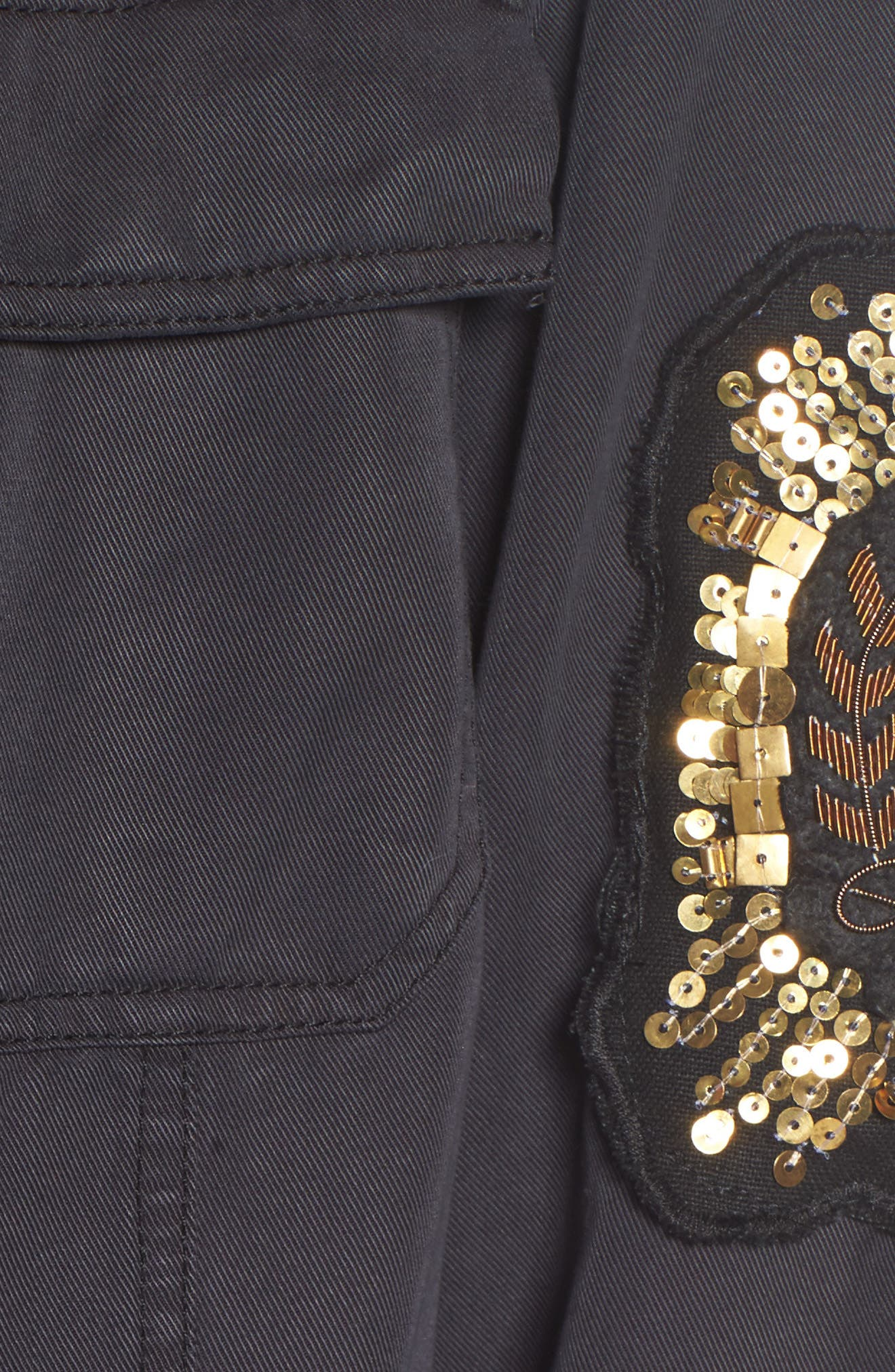 Alternate Image 5  - Pam & Gela Cargo Jacket with Crest Patch