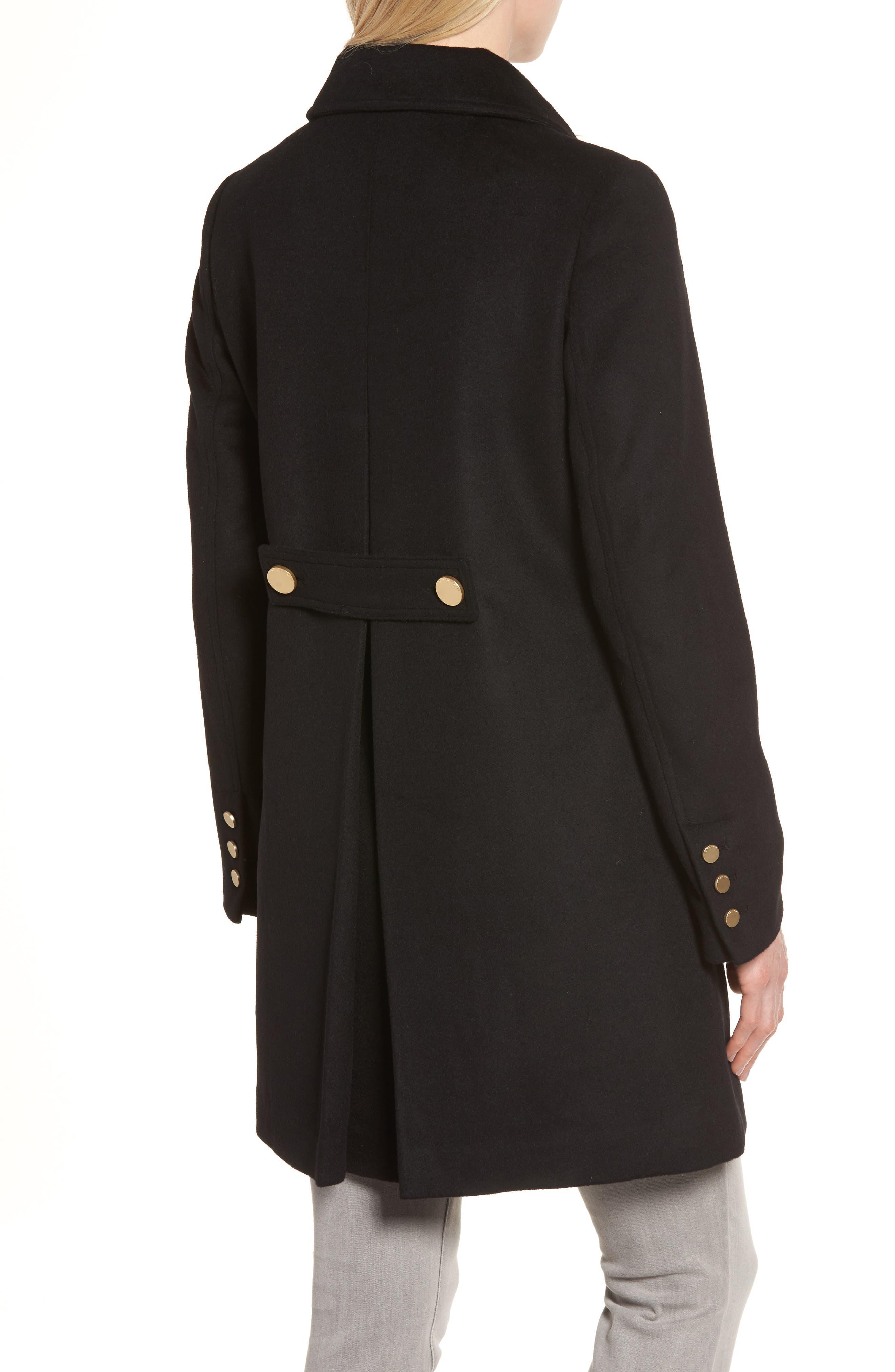 Alternate Image 2  - Tahari Sophia Wool A-Line Coat
