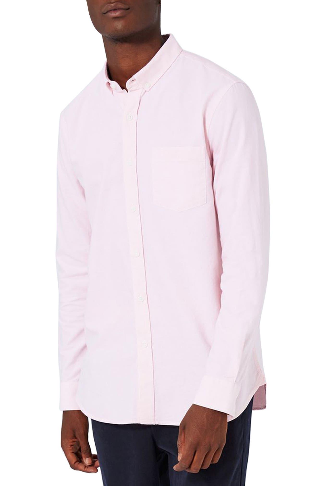 Oxford Shirt,                         Main,                         color, Pink