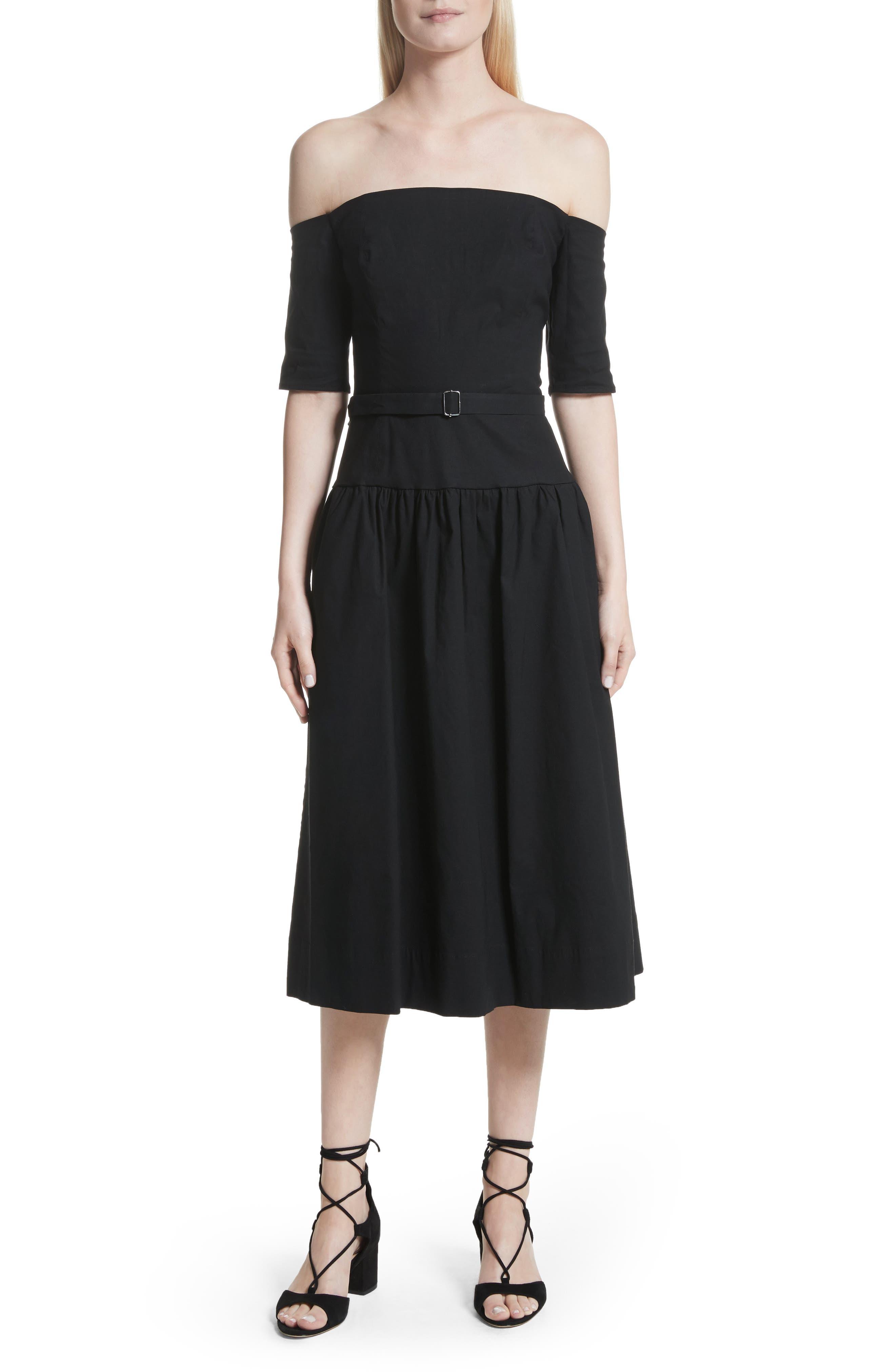 Strapless Dress,                         Main,                         color, Black