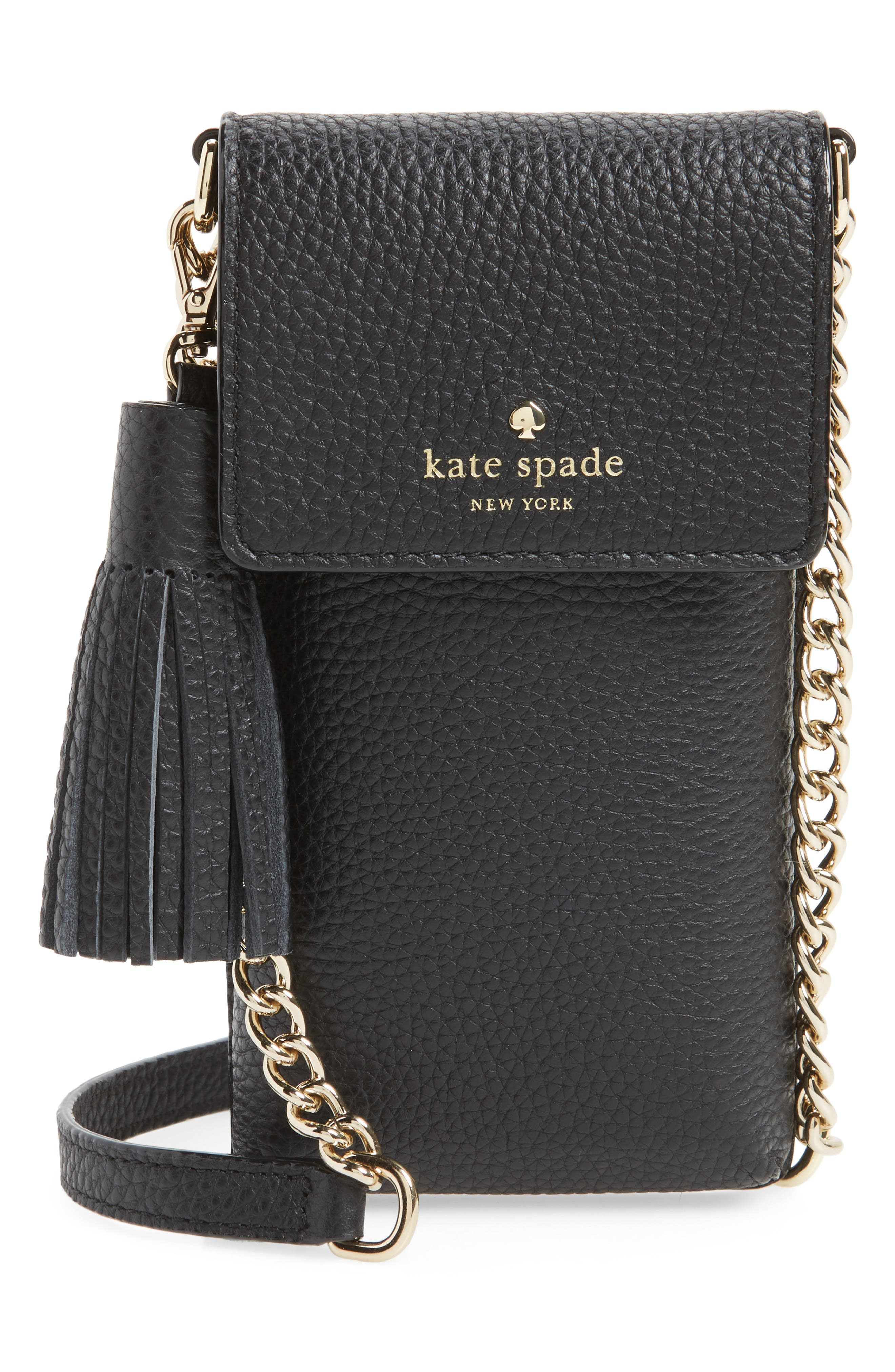 kate spade new york north/south leather smartphone crossbody bag