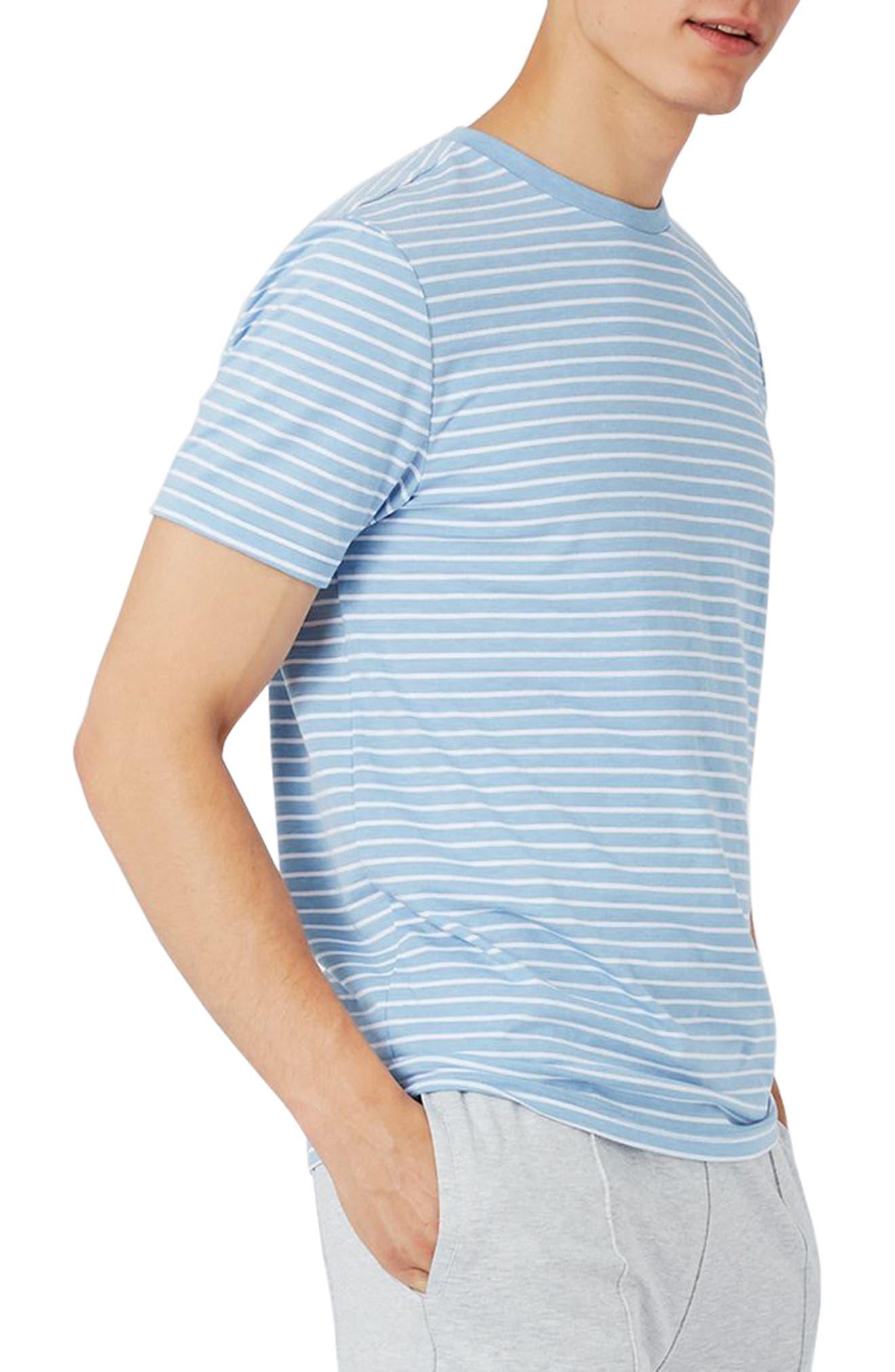 Main Image - Topman Crewneck Stripe T-Shirt