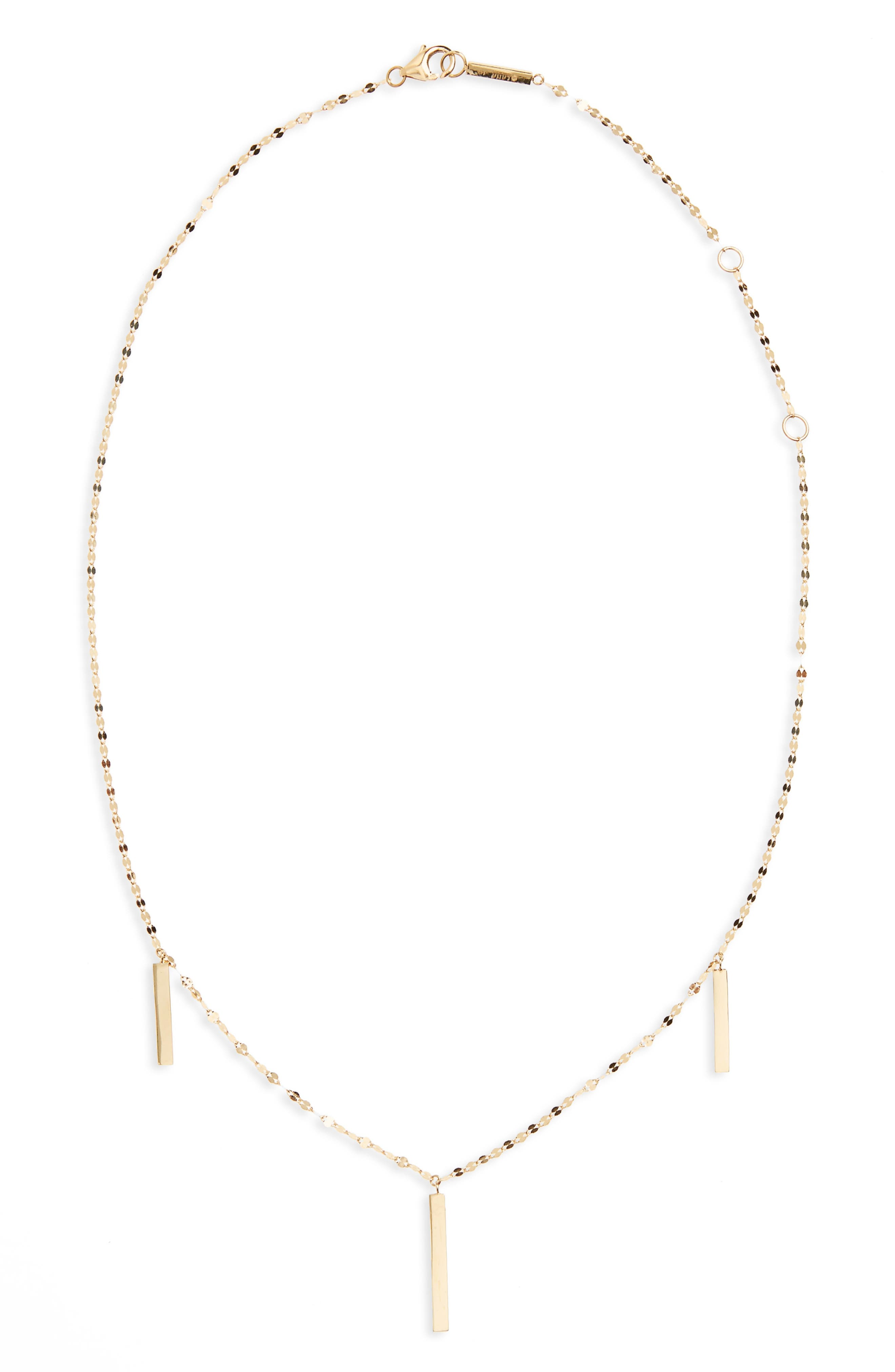 Station Necklace,                         Main,                         color, Yellow Gold