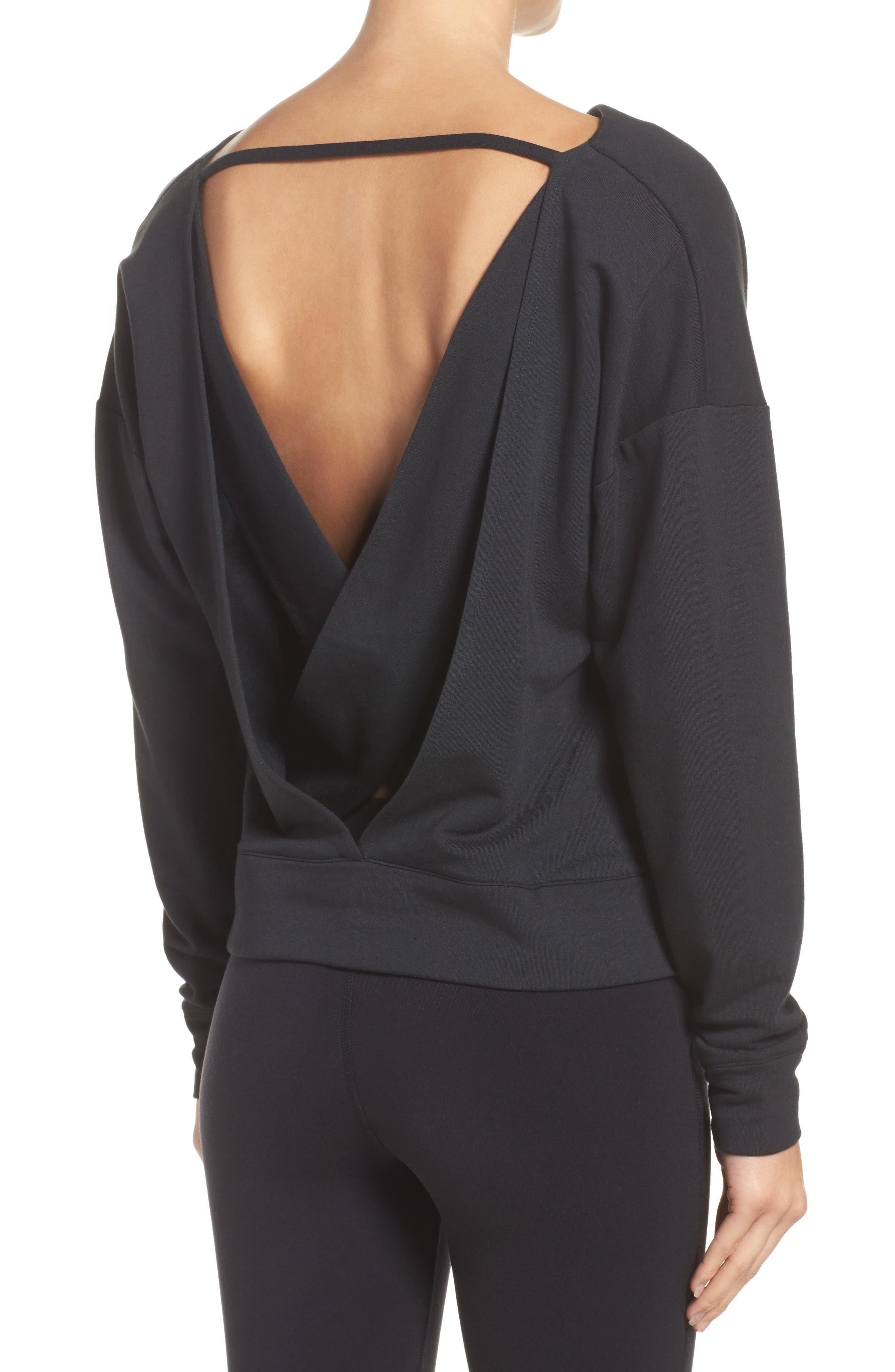 Uplift Modal Blend Top,                         Main,                         color, Black