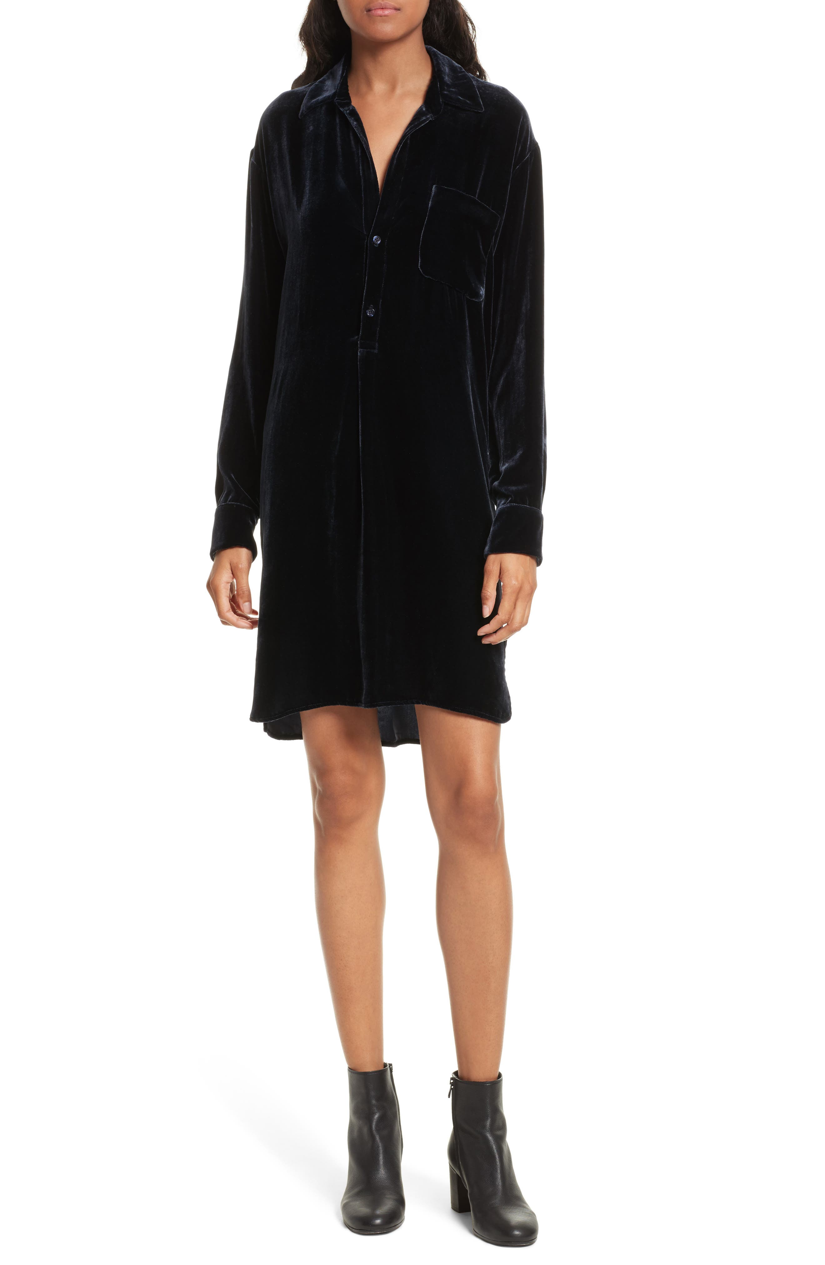 Vince Velvet Shirtdress