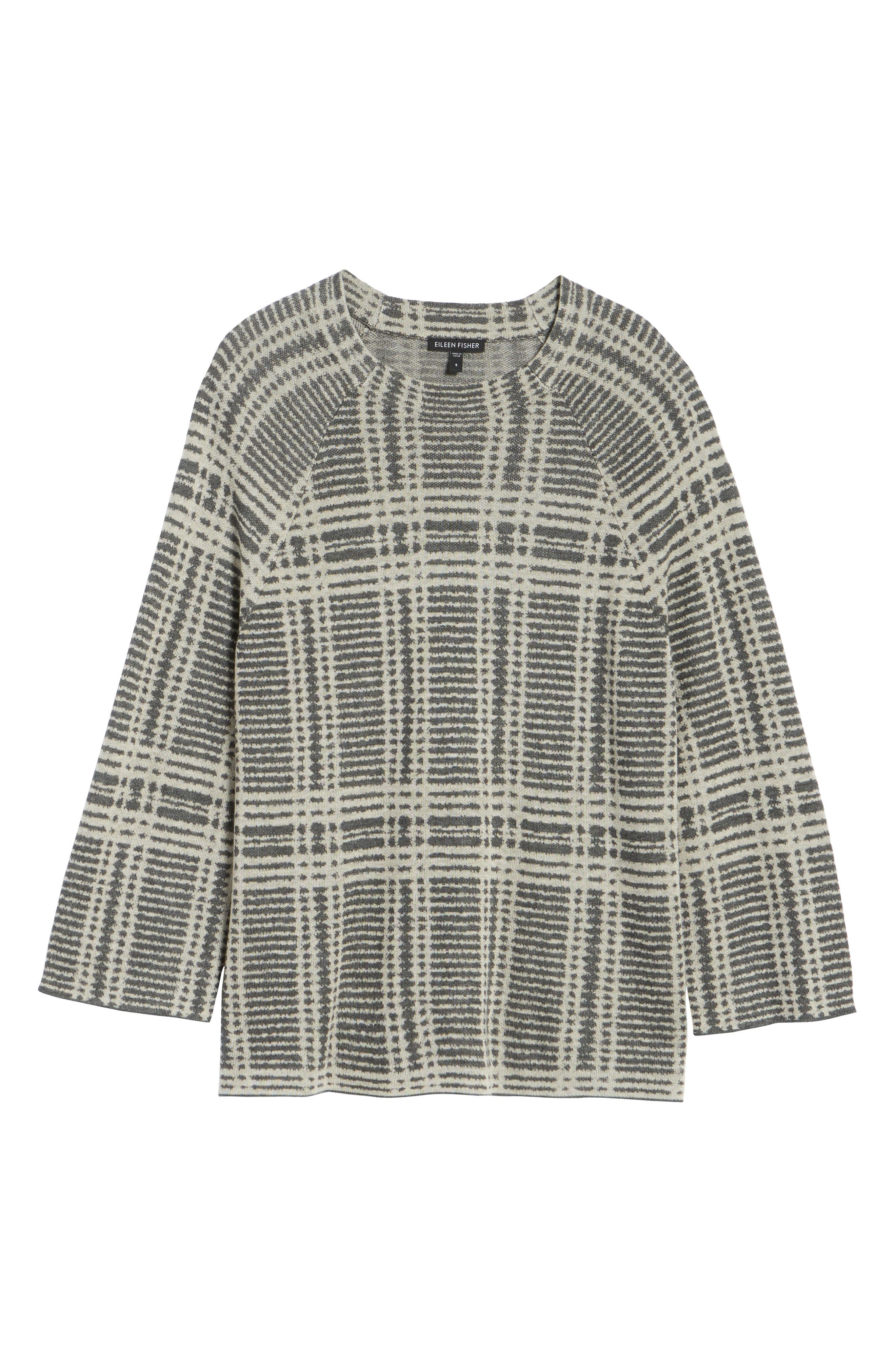 Alternate Image 6  - Eileen Fisher Plaid Tencel® & Wool Boxy Sweater