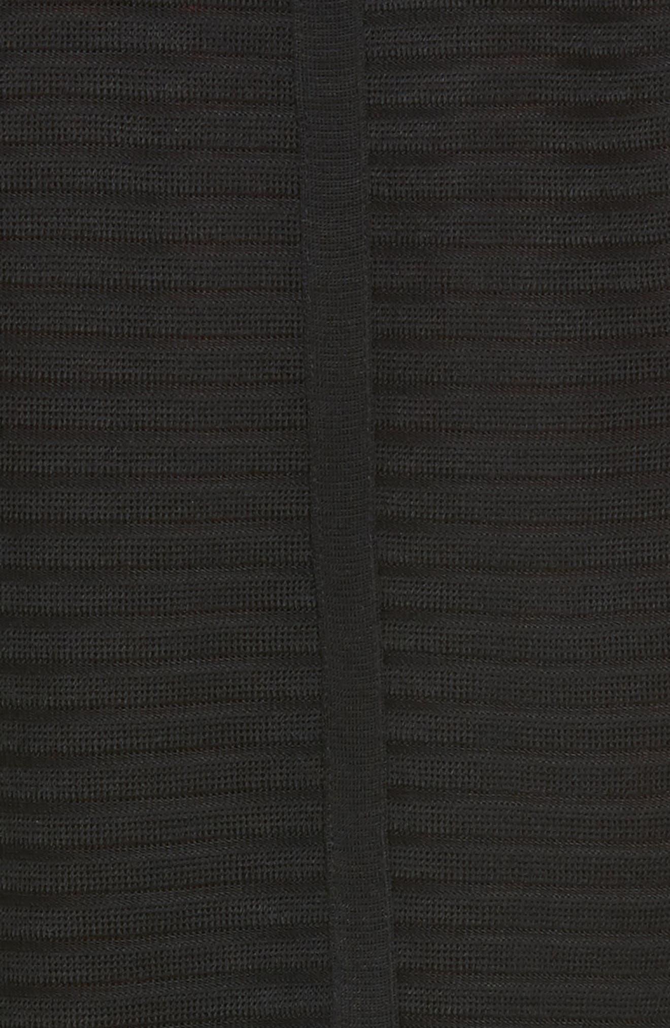 Striped Knit Jacket,                             Alternate thumbnail 5, color,                             Black