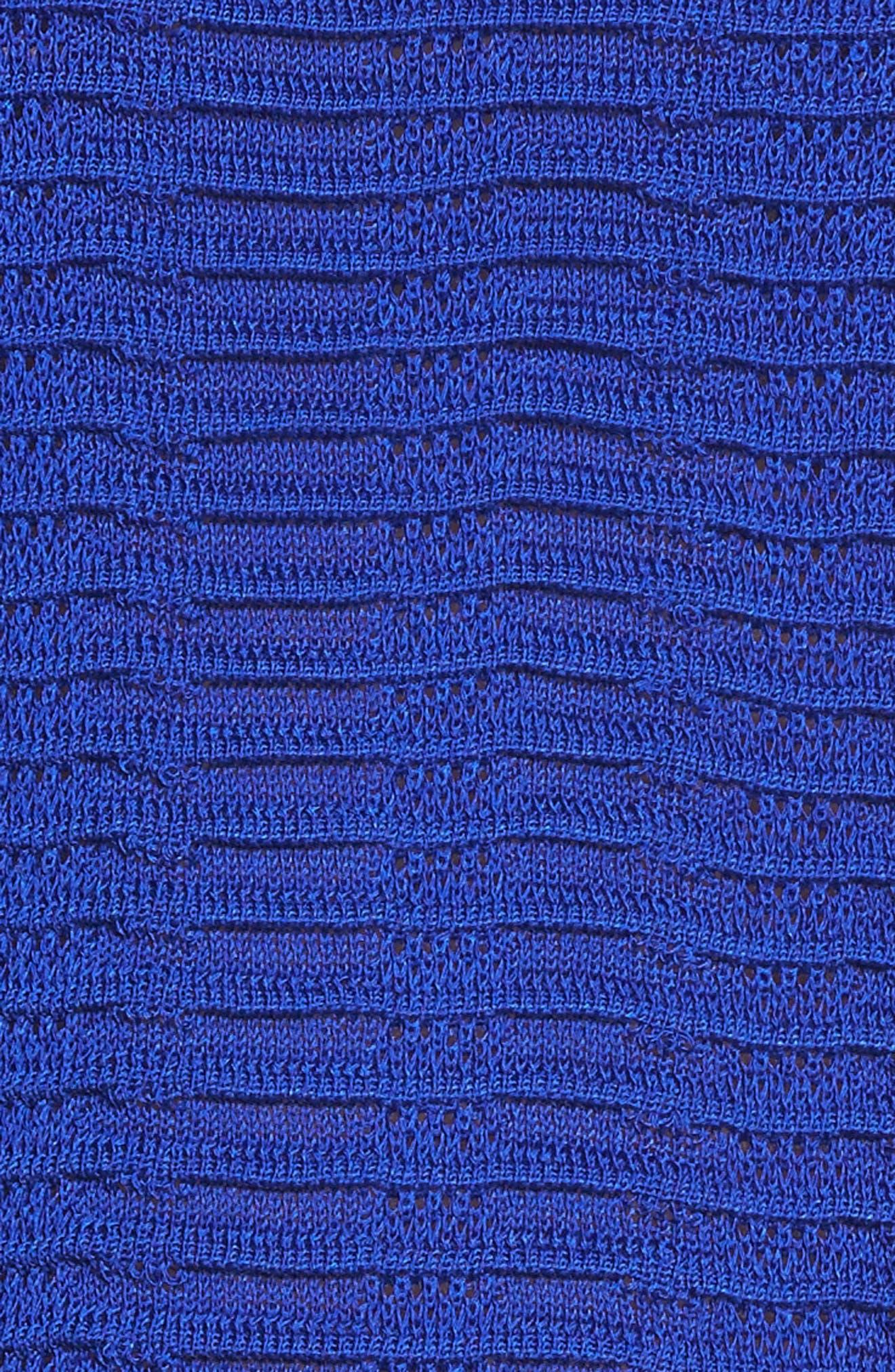 Ripple Knit Jacket,                             Alternate thumbnail 5, color,                             Blue Flame