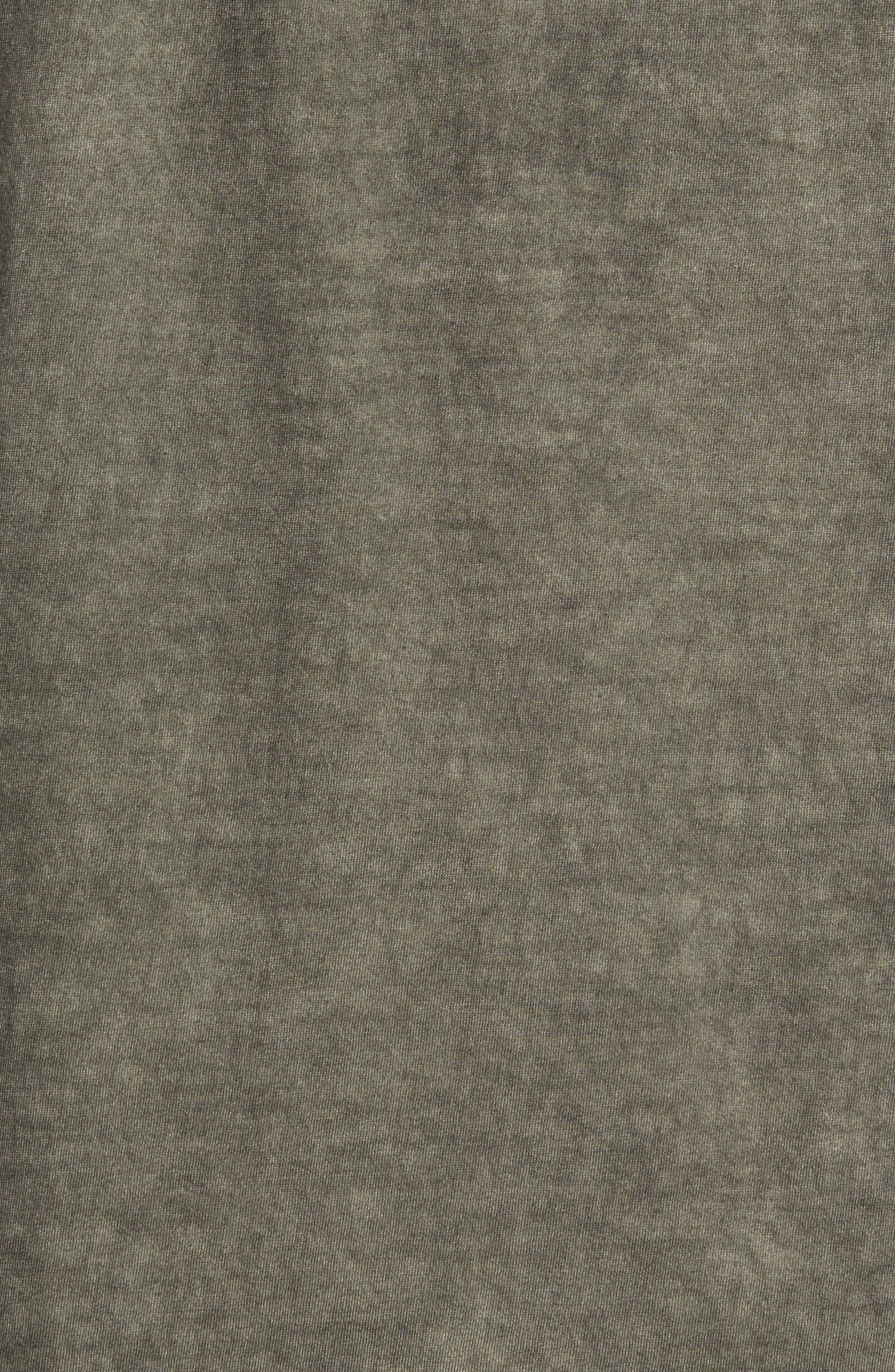 Pigment Dye Longline T-Shirt,                             Alternate thumbnail 6, color,                             Forest