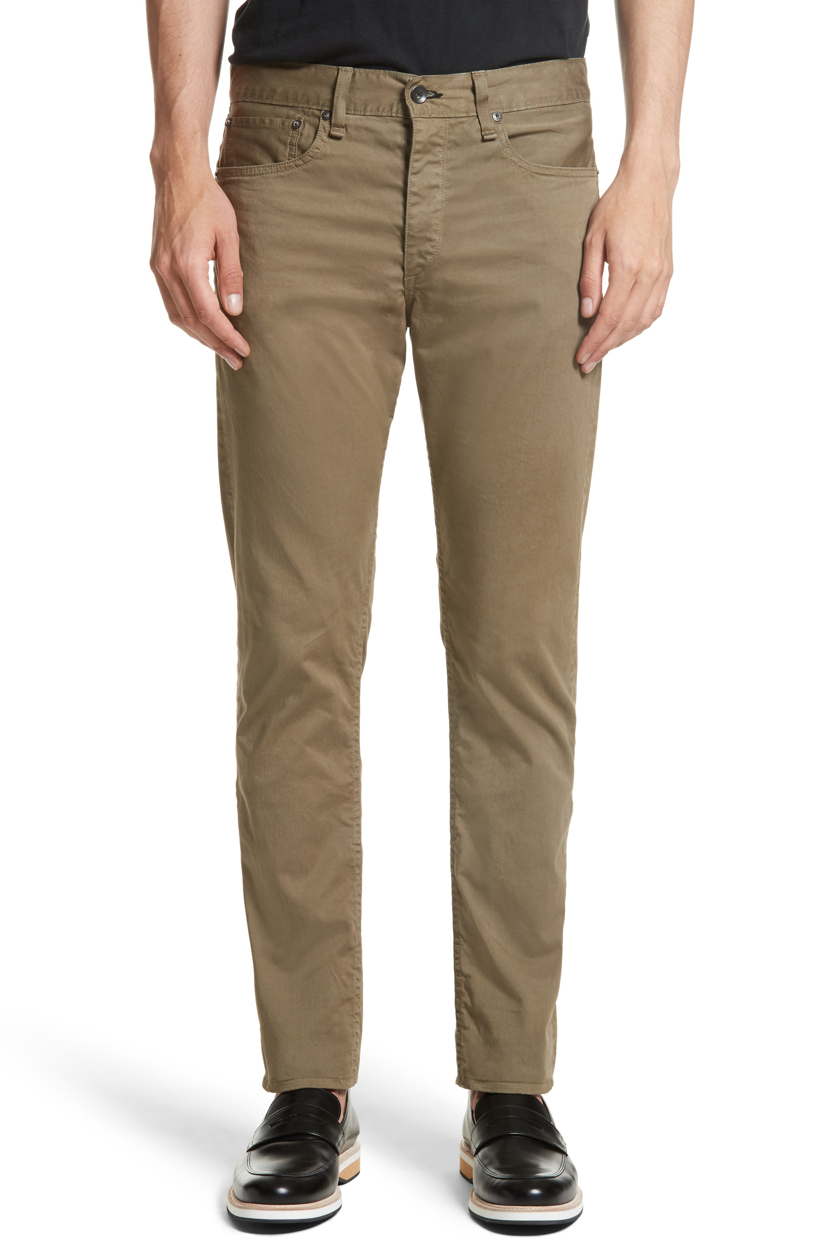 Fit 2 Five-Pocket Twill Pants,                         Main,                         color, Army