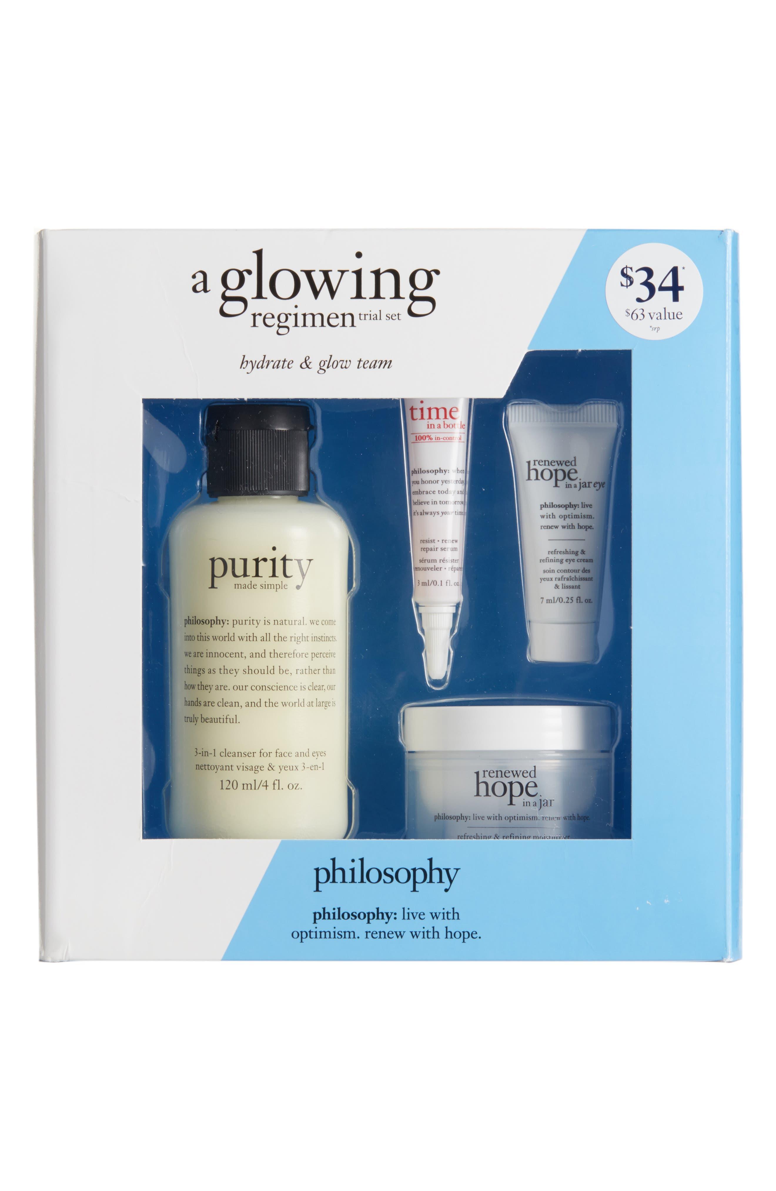 Alternate Image 1 Selected - philosophy glowing regimen set ($63 Value)