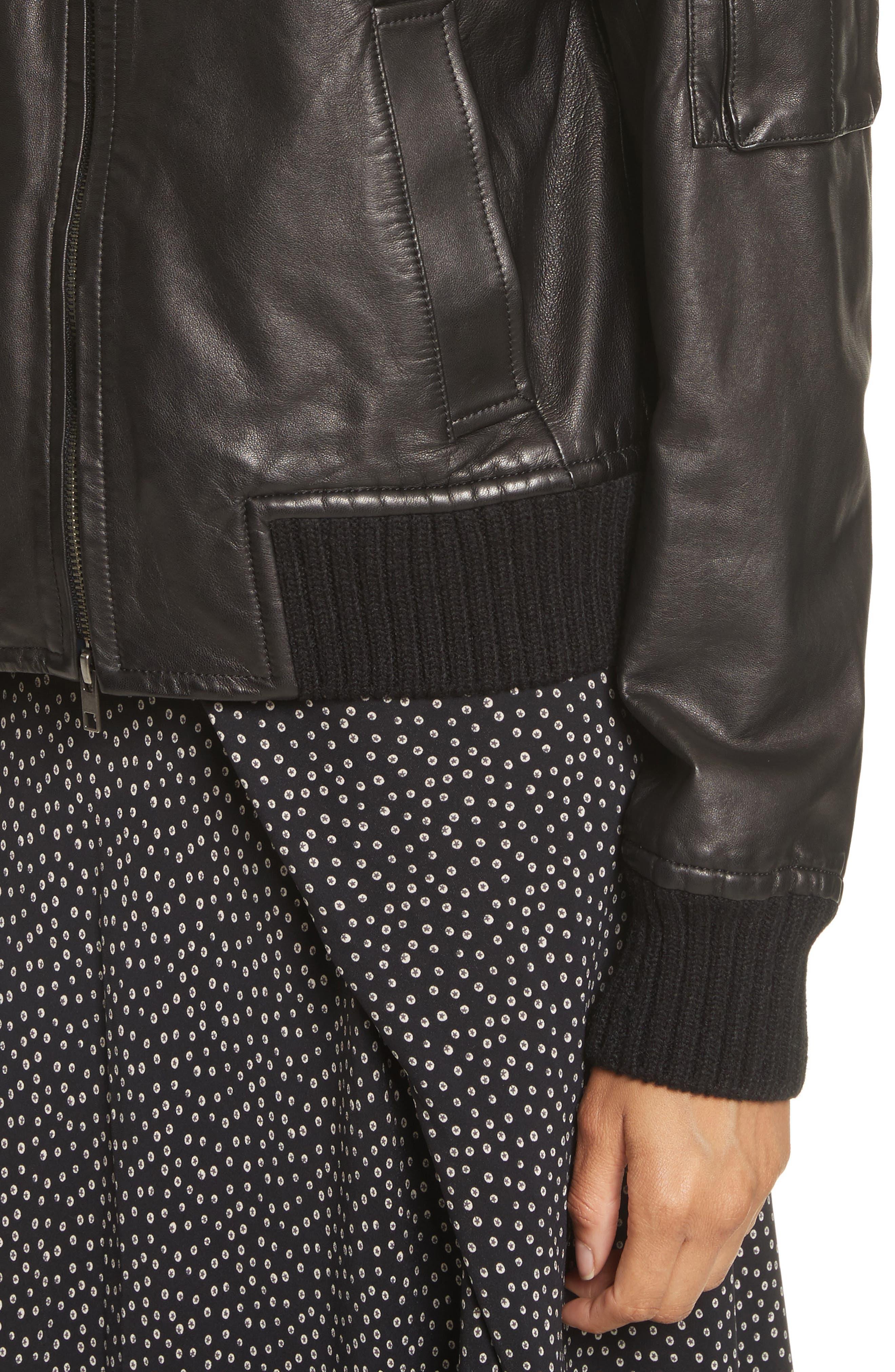 Alternate Image 4  - Vince Leather Bomber Jacket