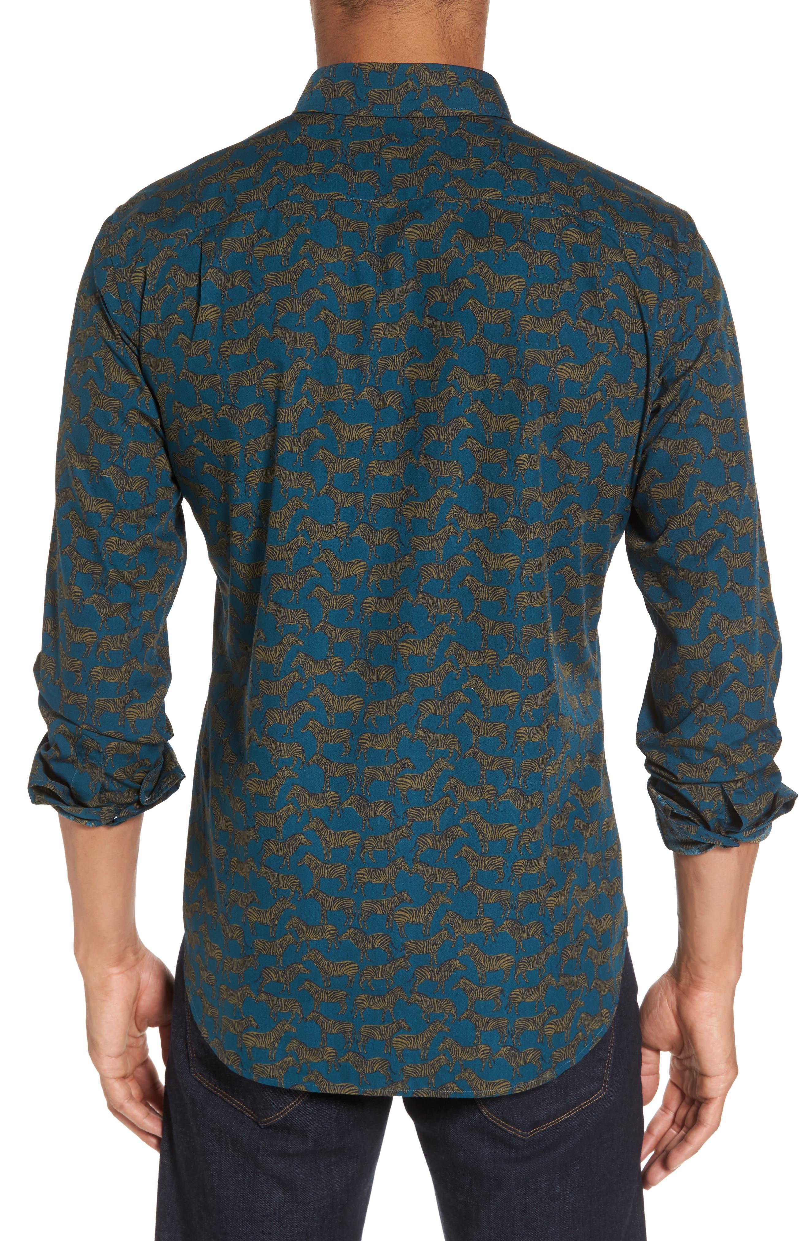 Alternate Image 2  - Bonobos Slim Fit Zebra Print Sport Shirt
