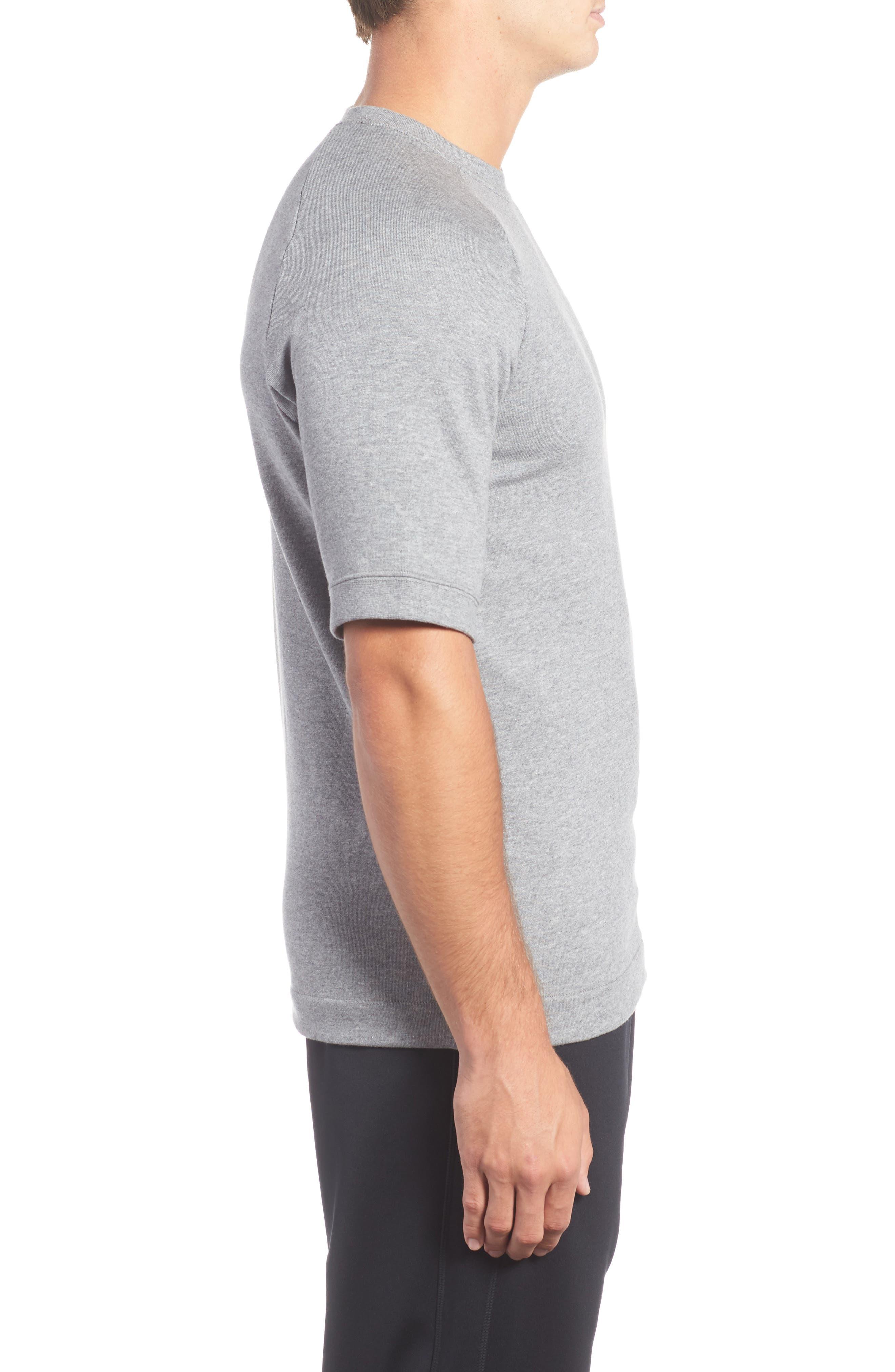 Sportswear Modern Crew T-Shirt,                             Alternate thumbnail 3, color,                             Grey