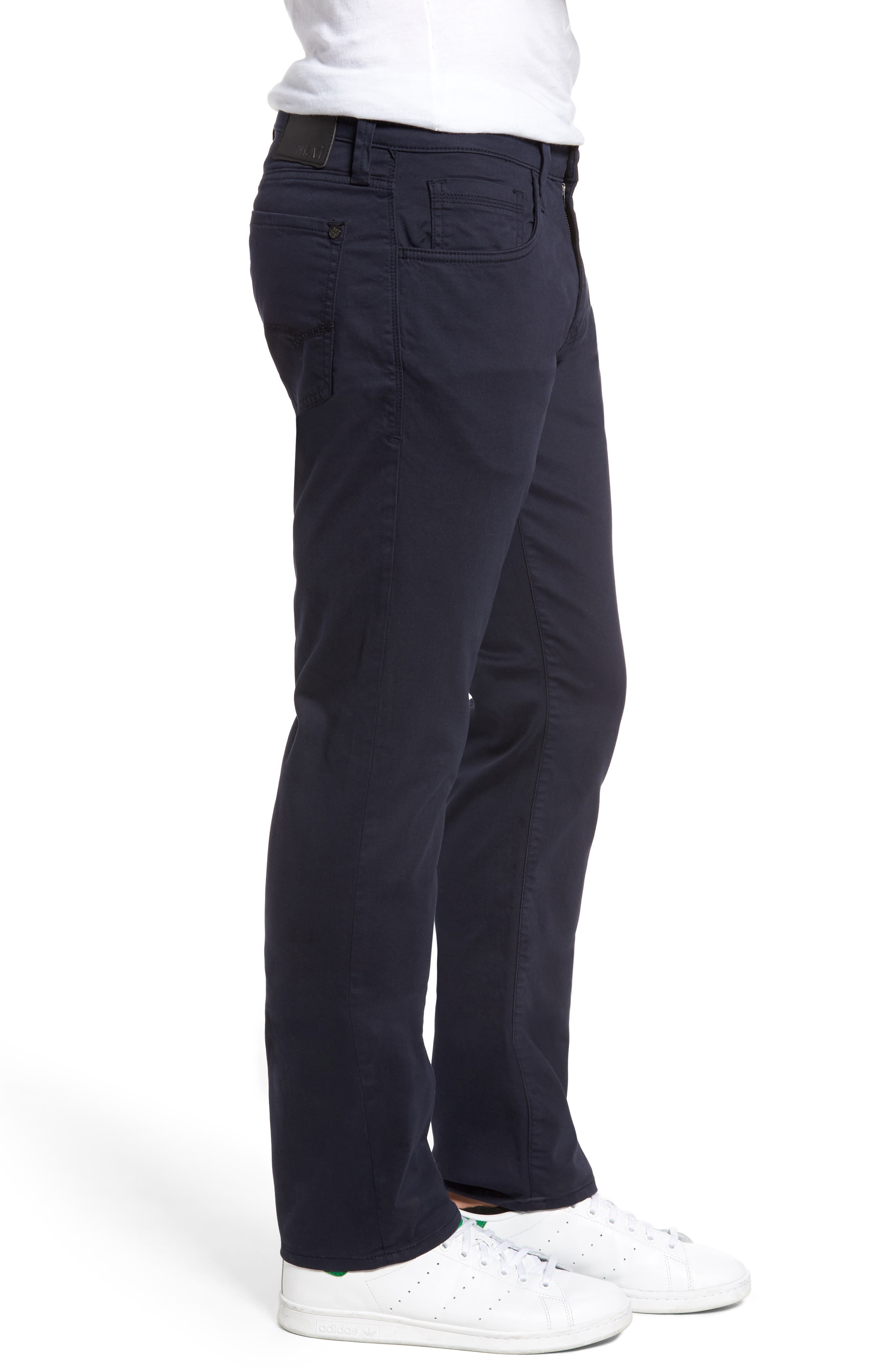Zach Straight Fit Twill Pants,                             Alternate thumbnail 3, color,                             Dark Navy Twill