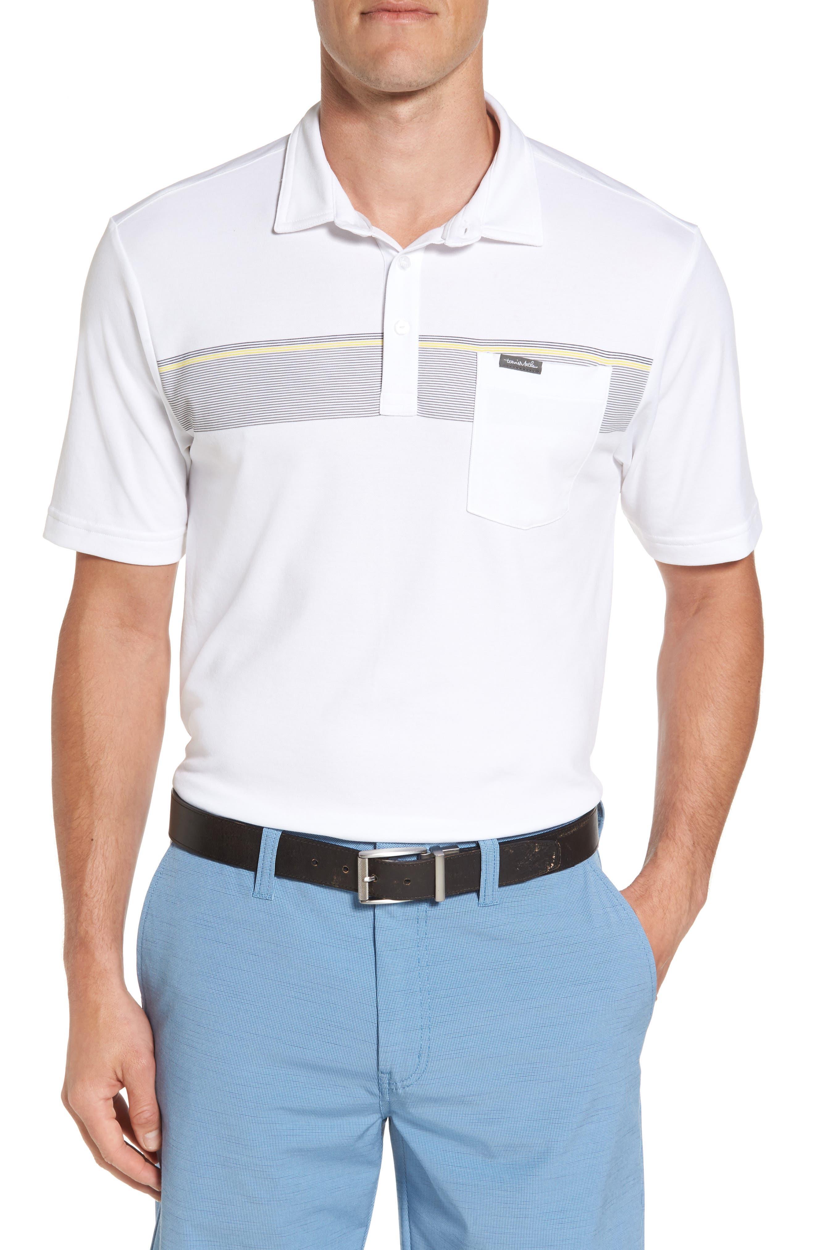 Growler Stripe Polo,                         Main,                         color, White